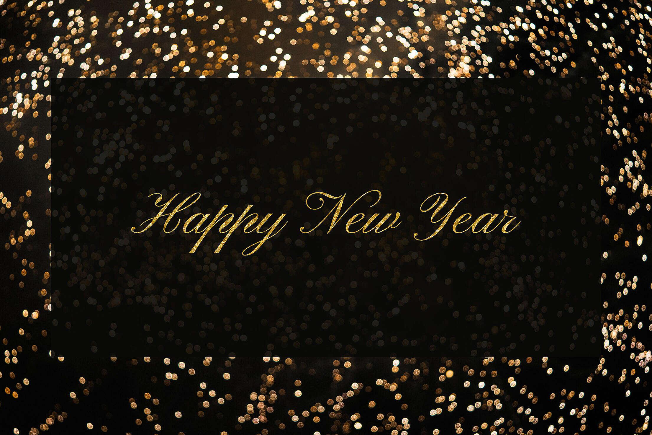 Happy New Year Black Box Free Stock Photo