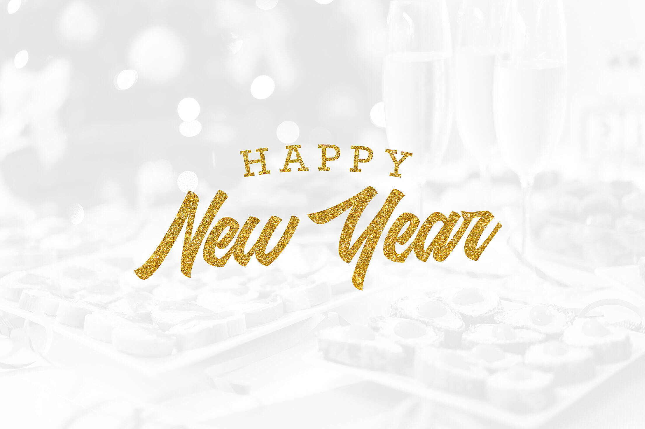 Happy New Year Lettering Free Stock Photo