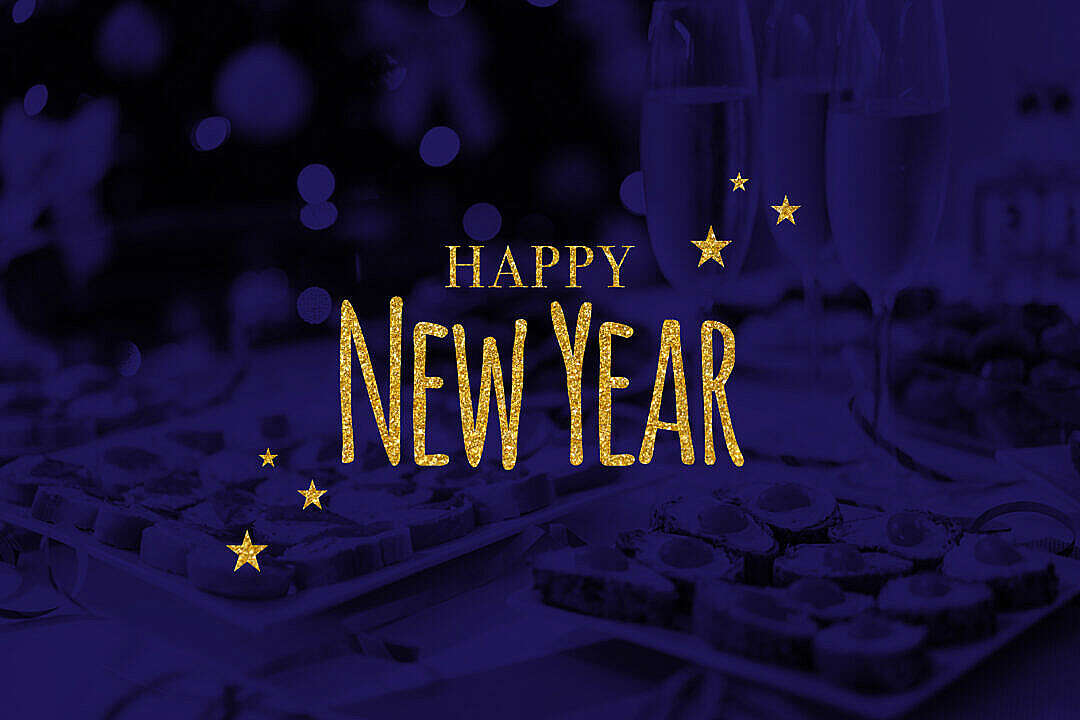 Download Happy New Year Text FREE Stock Photo
