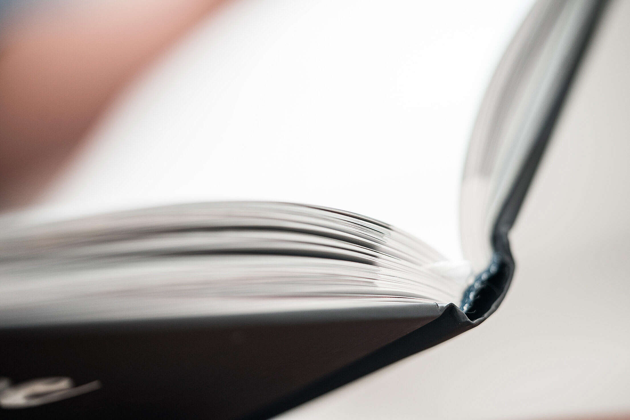Hardcover Book Binding Close Up Free Stock Photo
