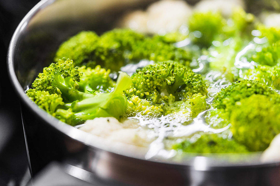 Download Healthy Dinner: Cooking Broccoli Close Up FREE Stock Photo
