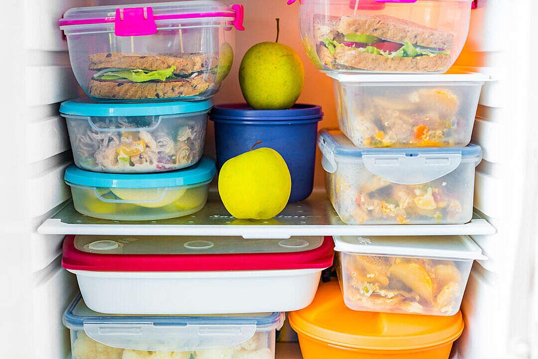 Download Healthy Food in Fridge FREE Stock Photo