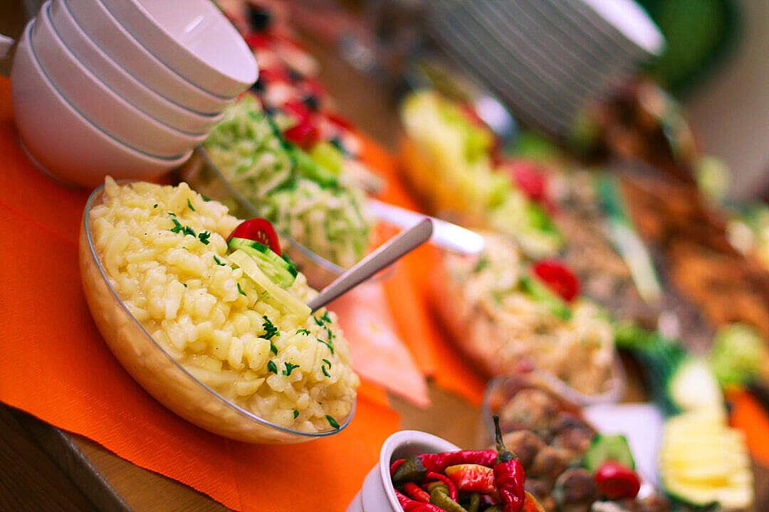 Download Healthy Potato Salad FREE Stock Photo