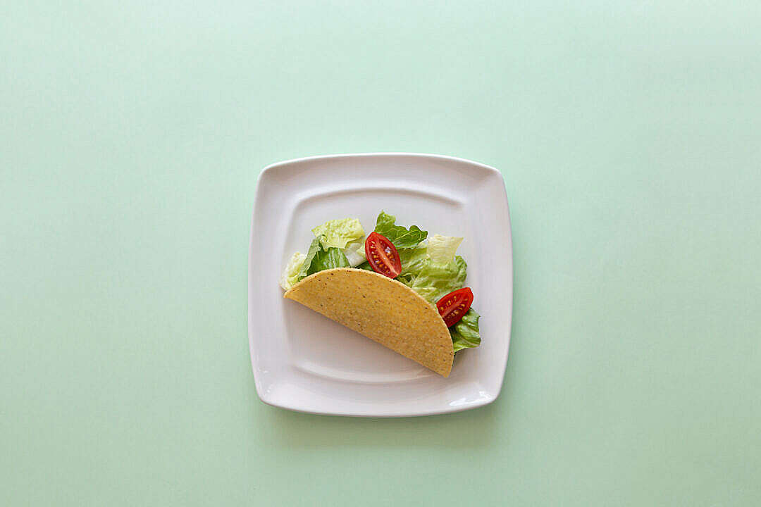 Download Healthy Taco with Place for Text FREE Stock Photo