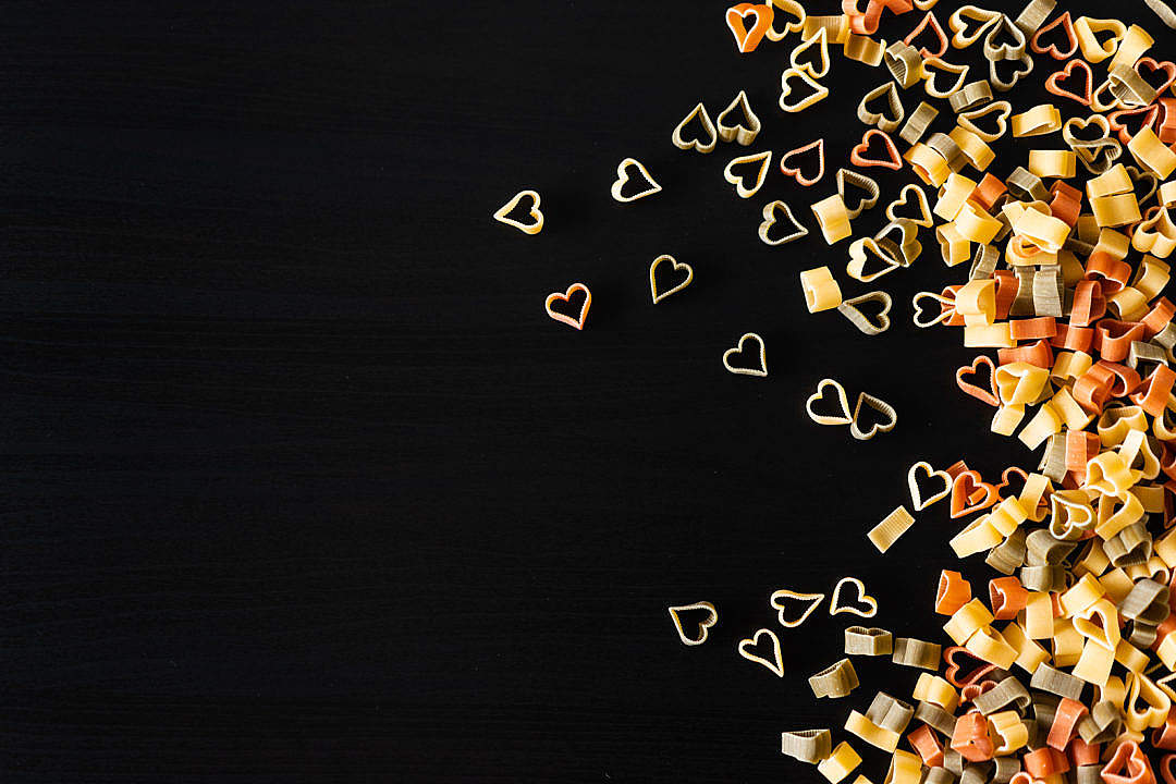 Download Heart Pasta FREE Stock Photo