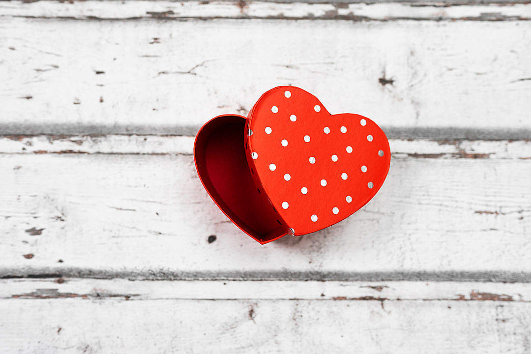 Download Heart Shaped Gift Box Valentine's Day FREE Stock Photo