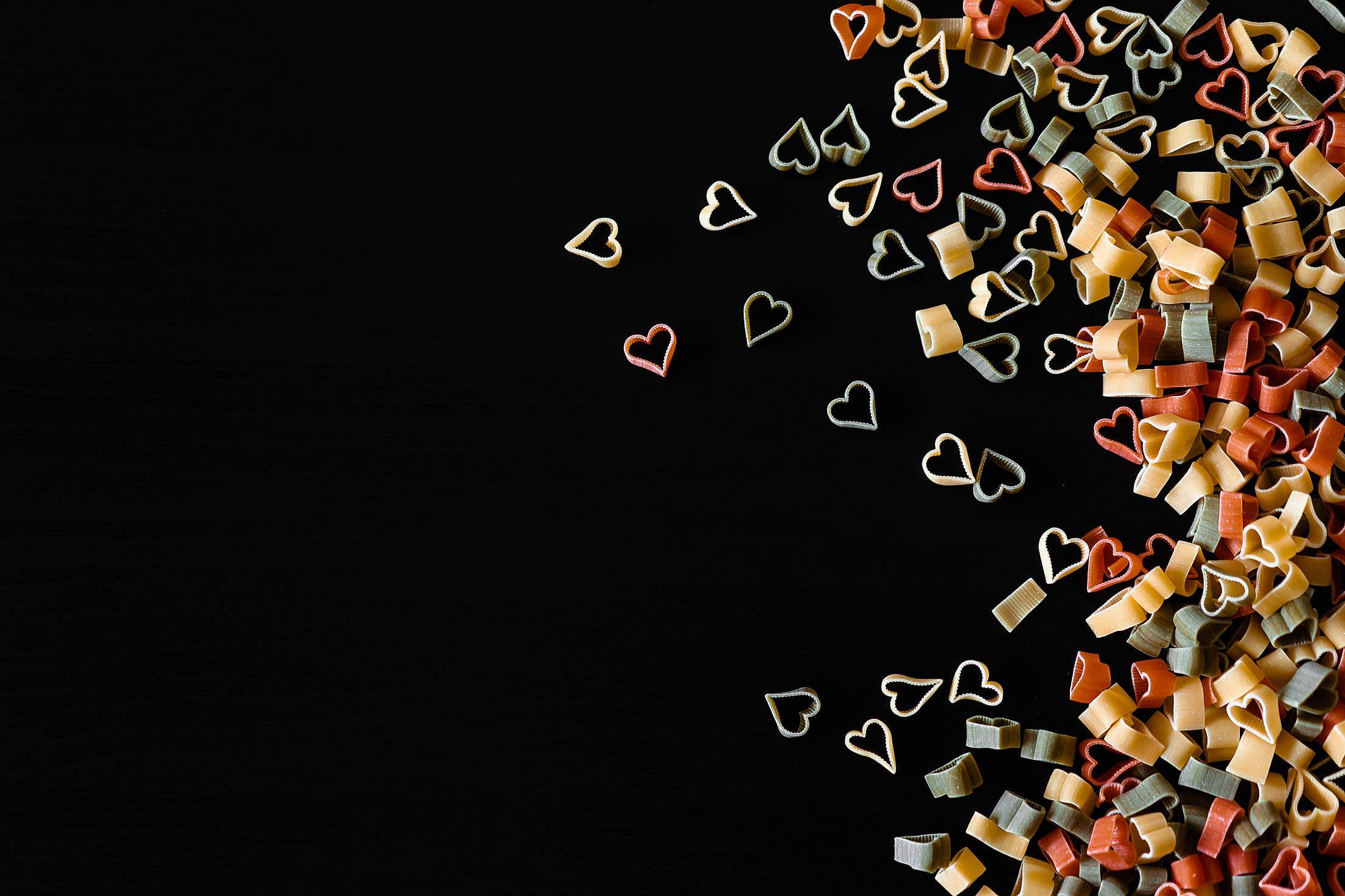 Heart Shaped Pasta Free Stock Photo