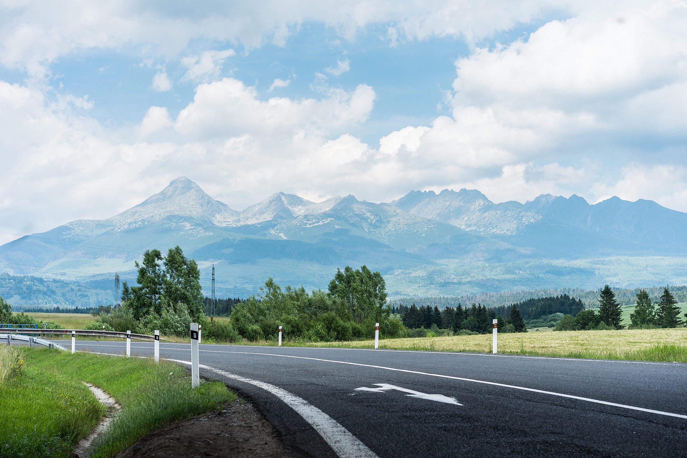High Tatras Mountains Panorama Free Stock Photo