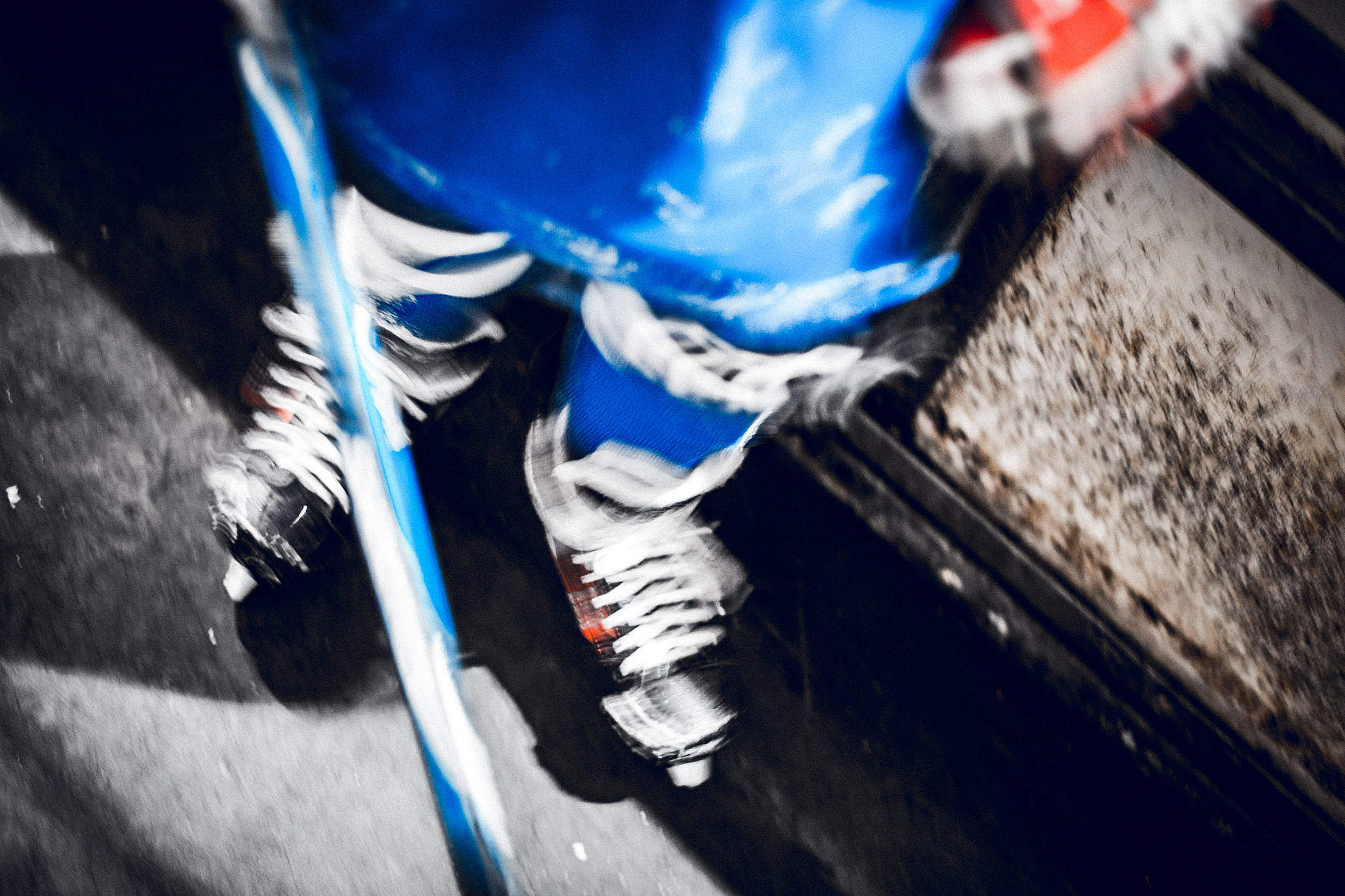 Download Hockey Player Practice Gear Free Stock Photo