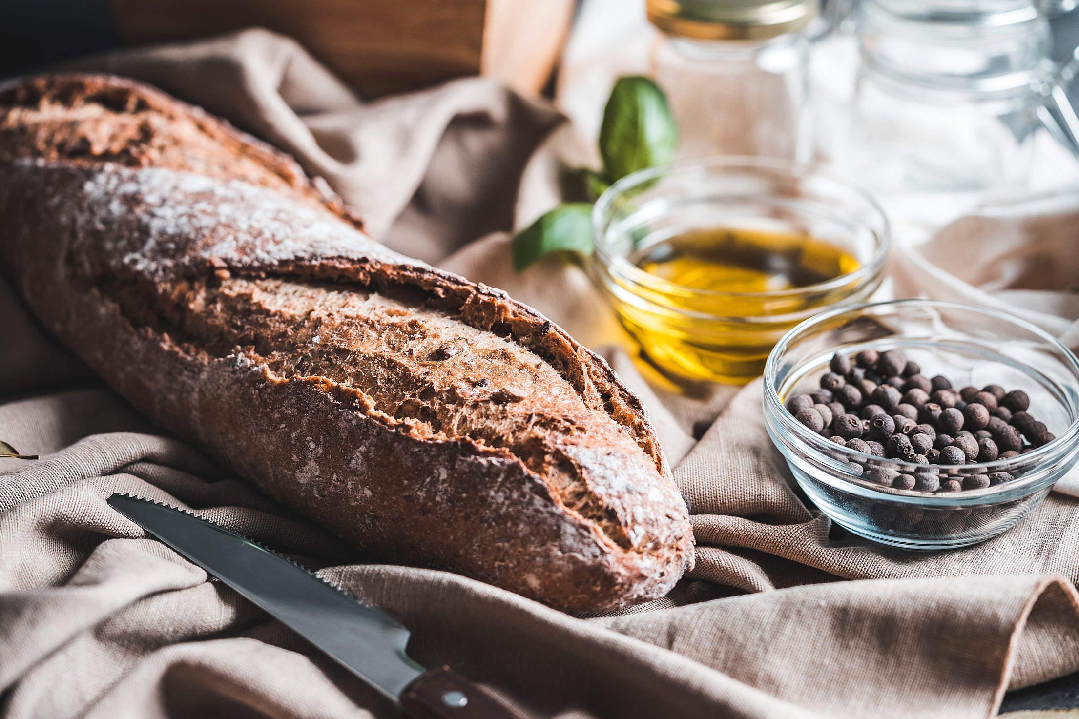 Homemade Bread Free Stock Photo