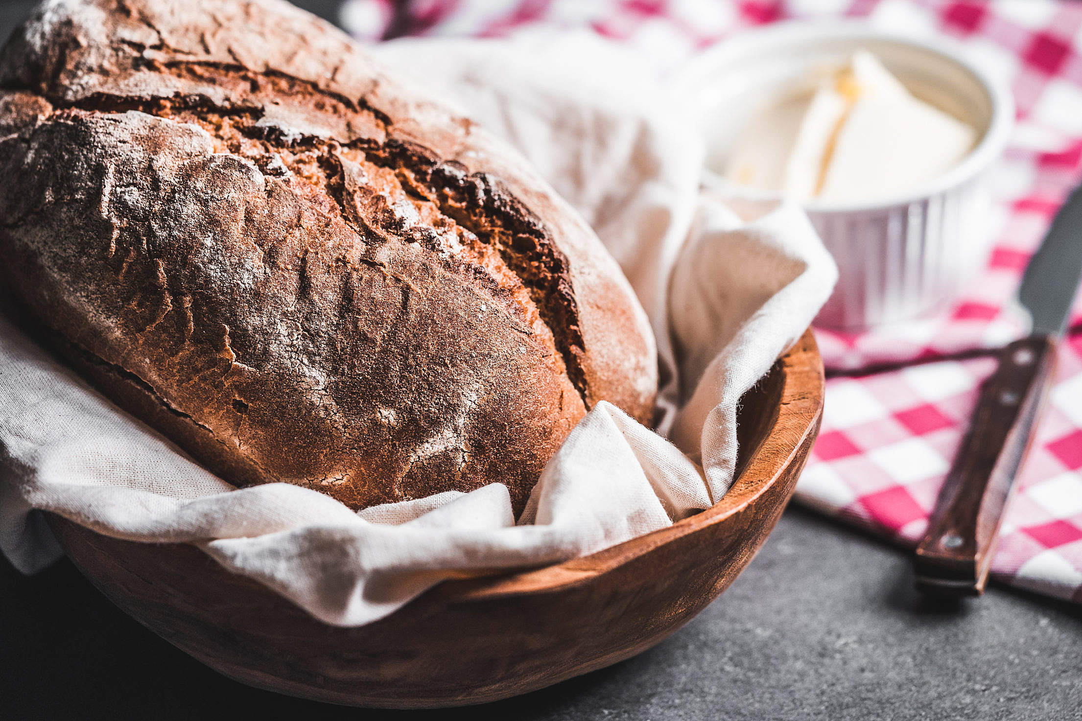 Download Homemade Country Bread Free Stock Photo