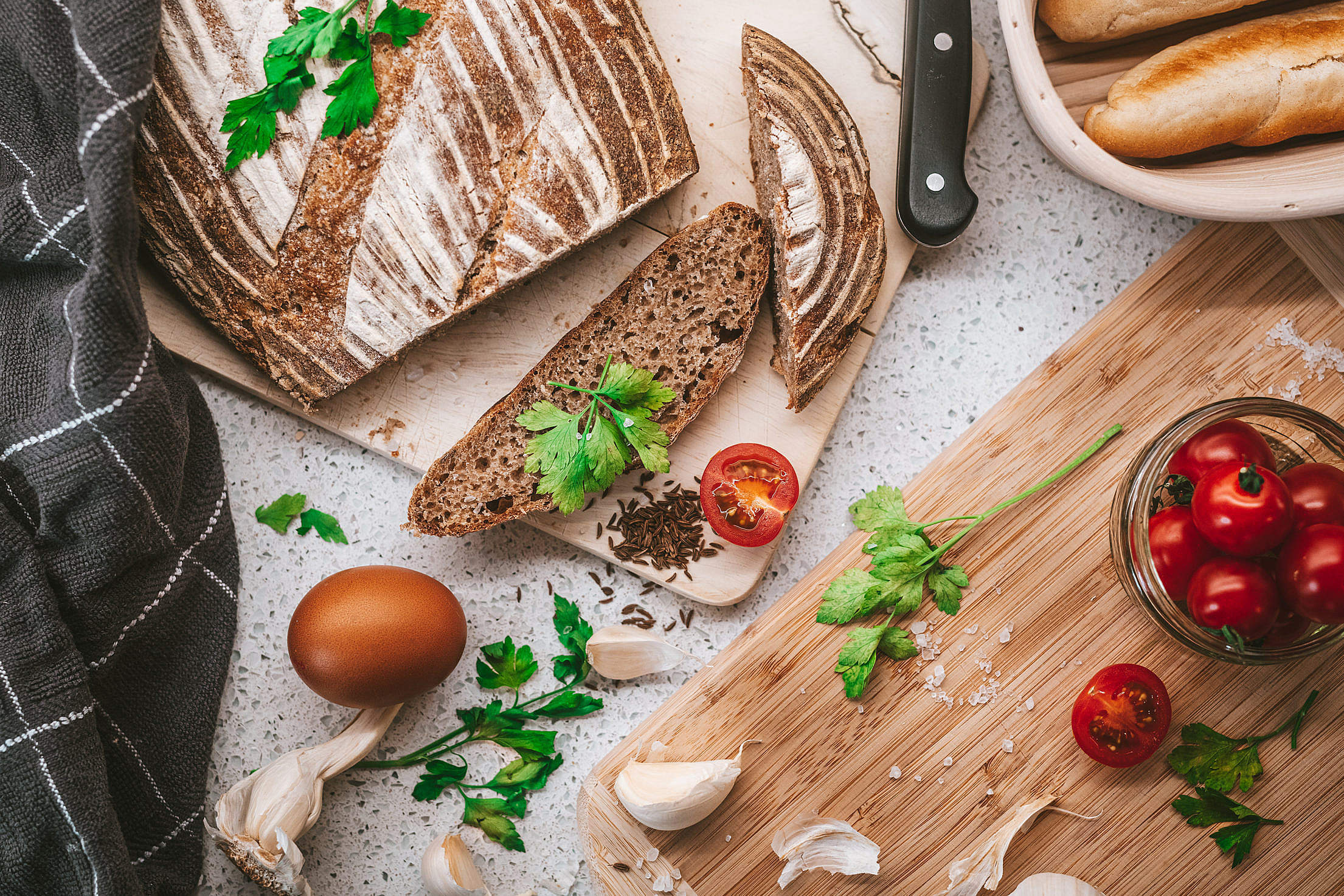 Homemade Fresh Bread Free Stock Photo