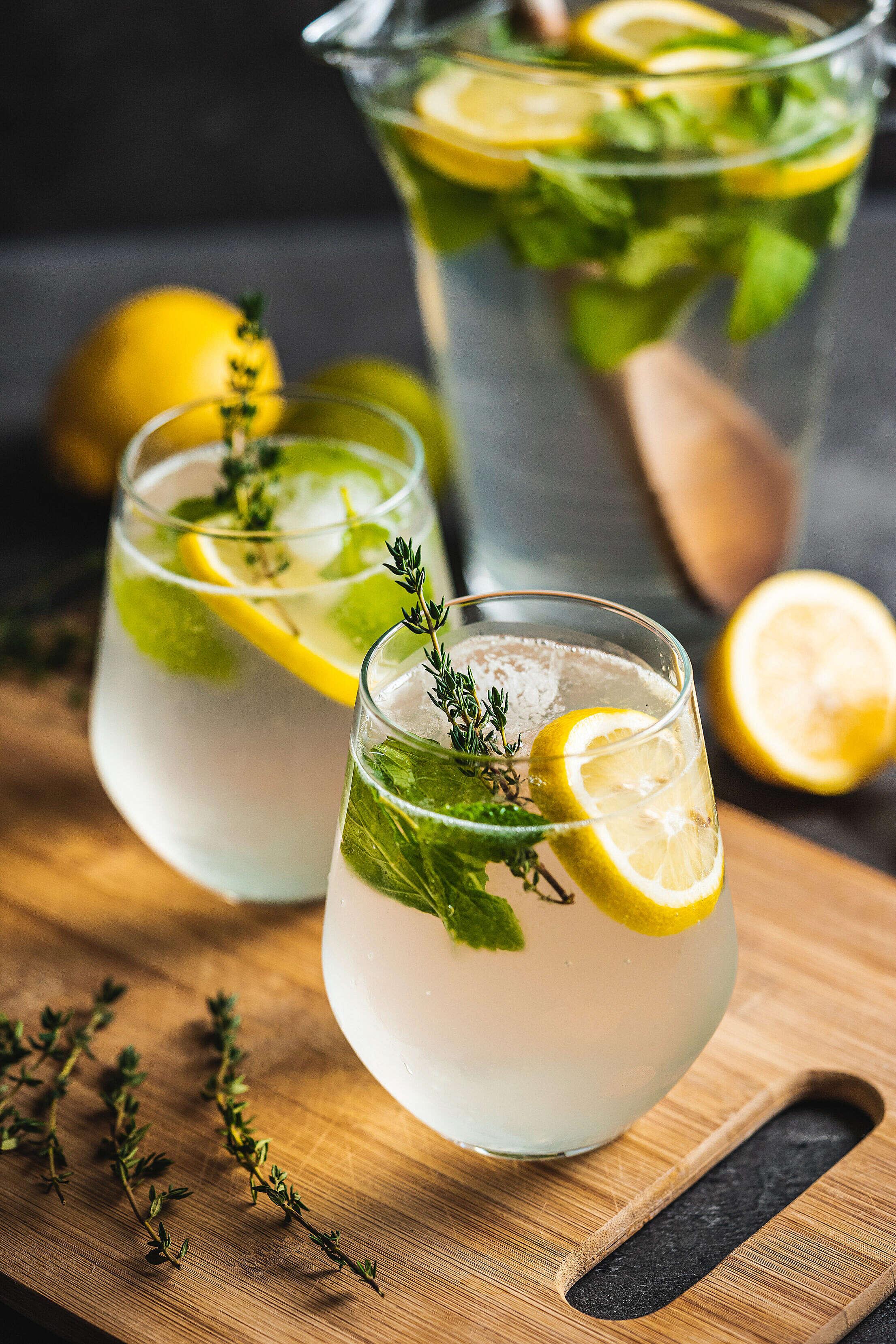 Homemade Lemon Drinks Free Stock Photo