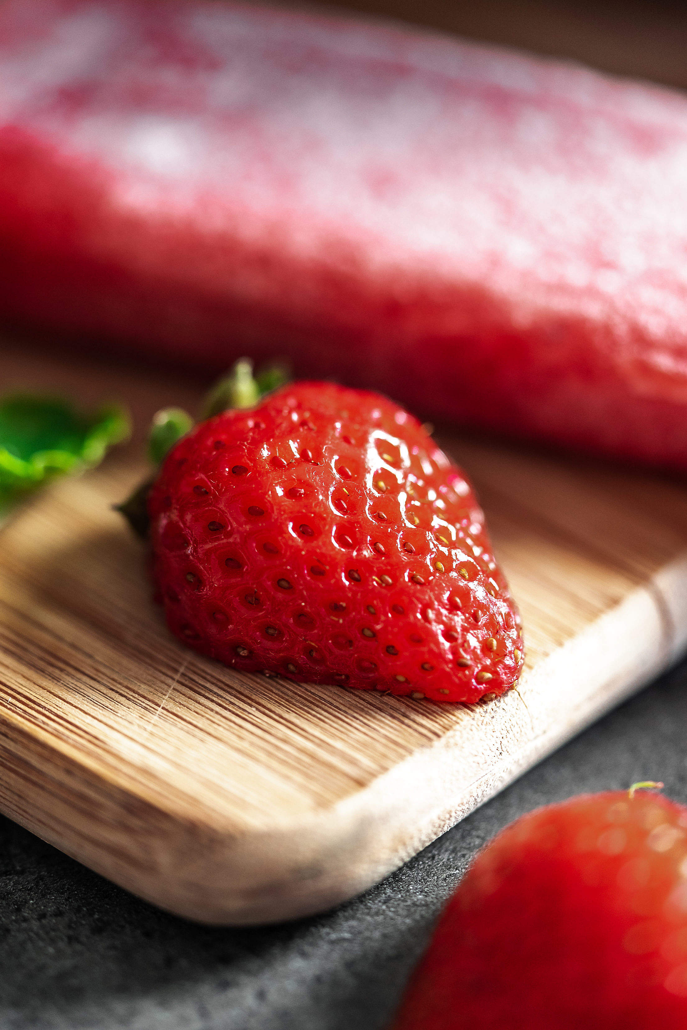 Homemade Strawberry Popsicles Free Stock Photo