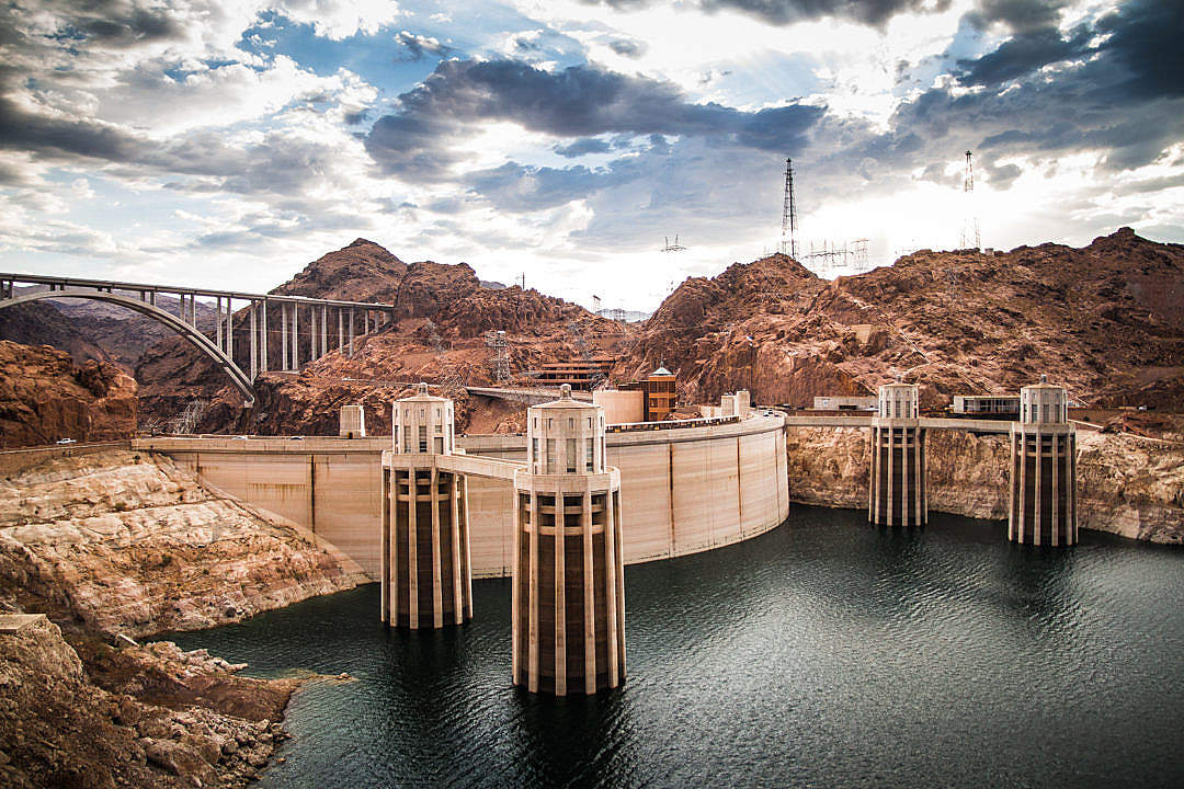 Download Hoover Dam, Colorado River FREE Stock Photo
