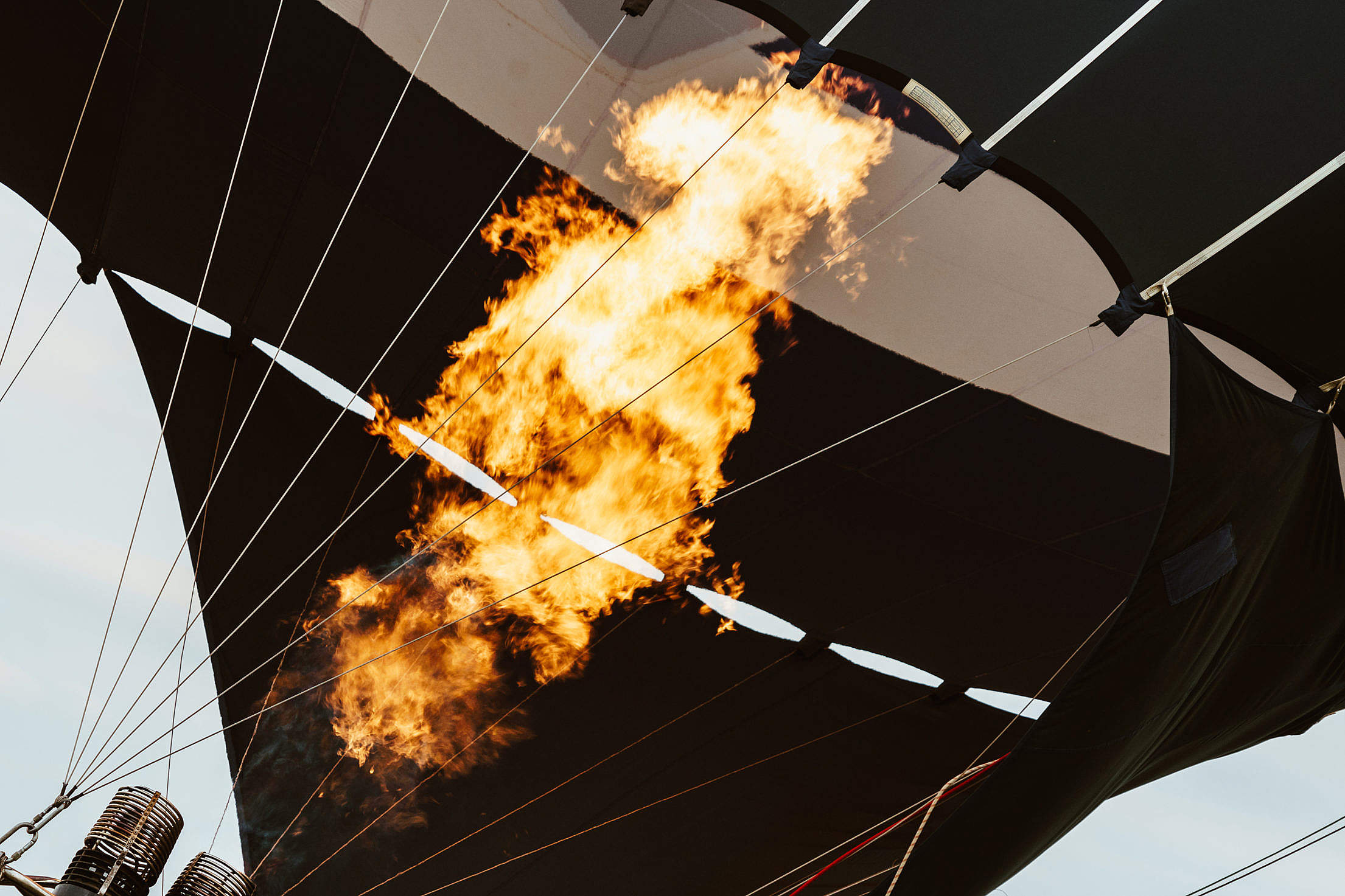 Download Hot Air Balloon Fire Free Stock Photo