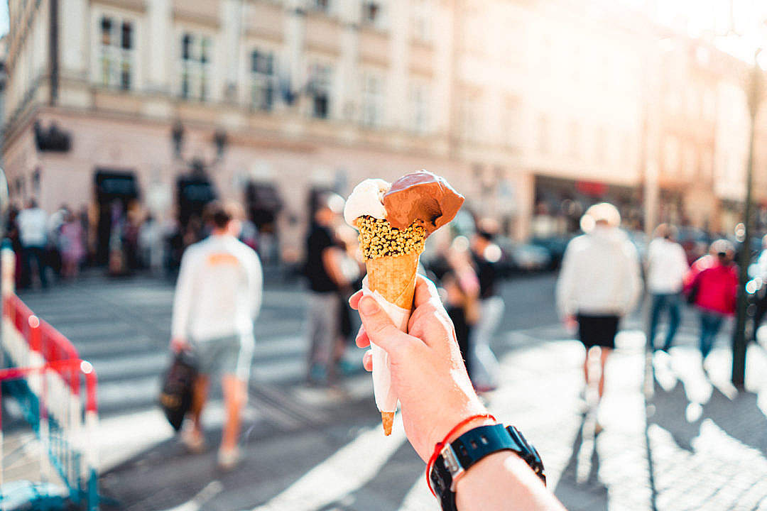 Download Ice Cream in Hand FREE Stock Photo