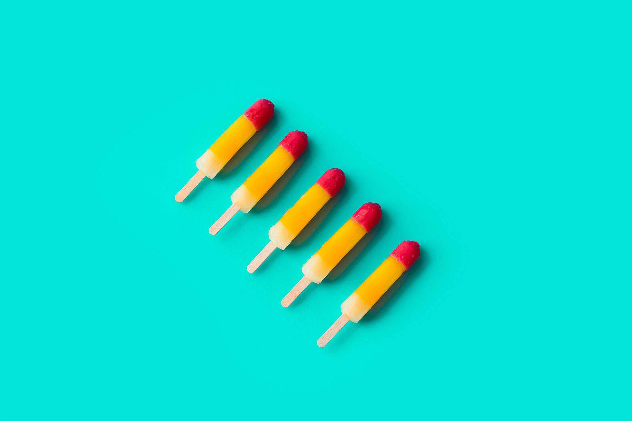 Ice Lolly Pastel Free Stock Photo