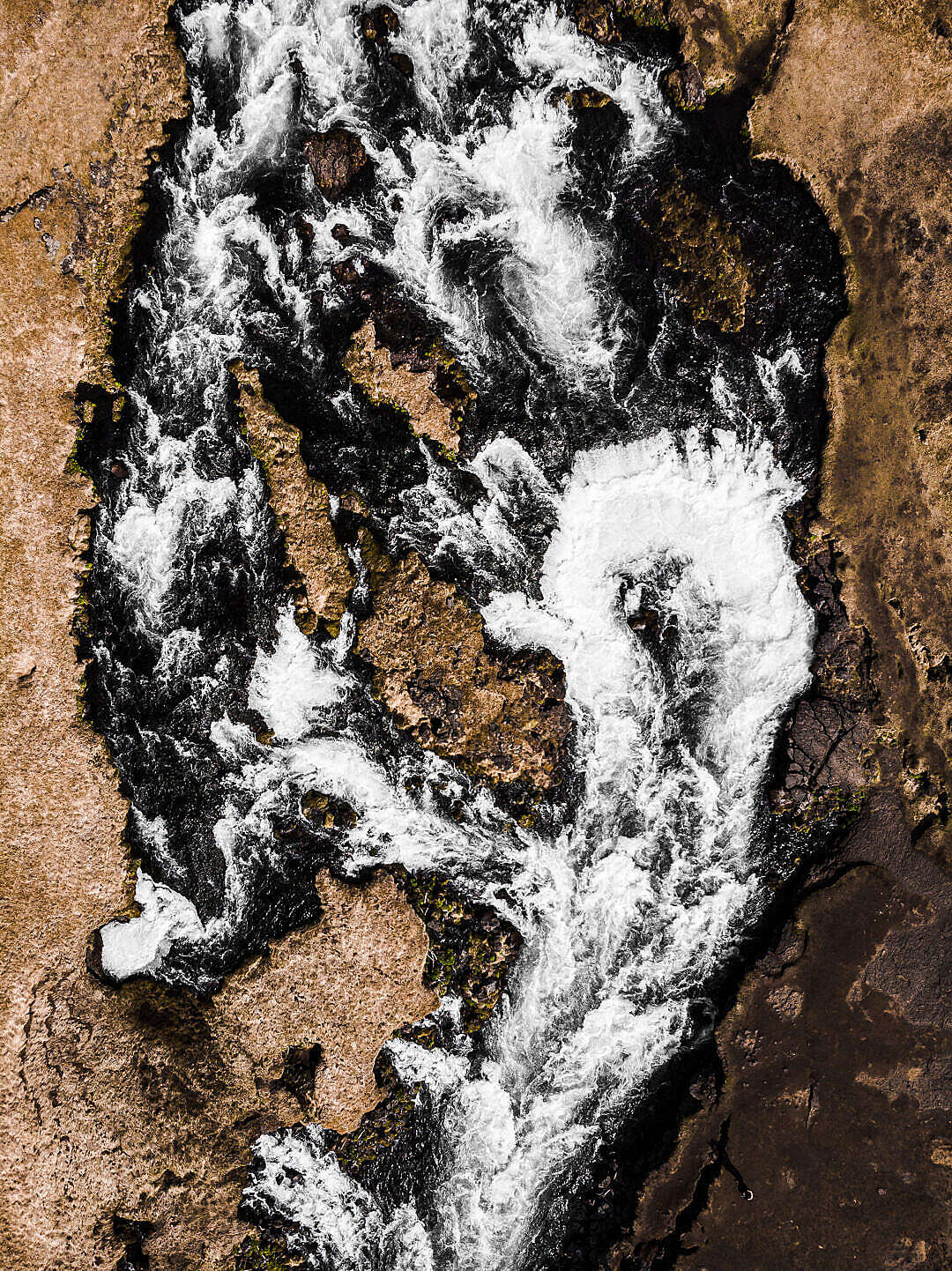 Download Icelandic River from Above FREE Stock Photo
