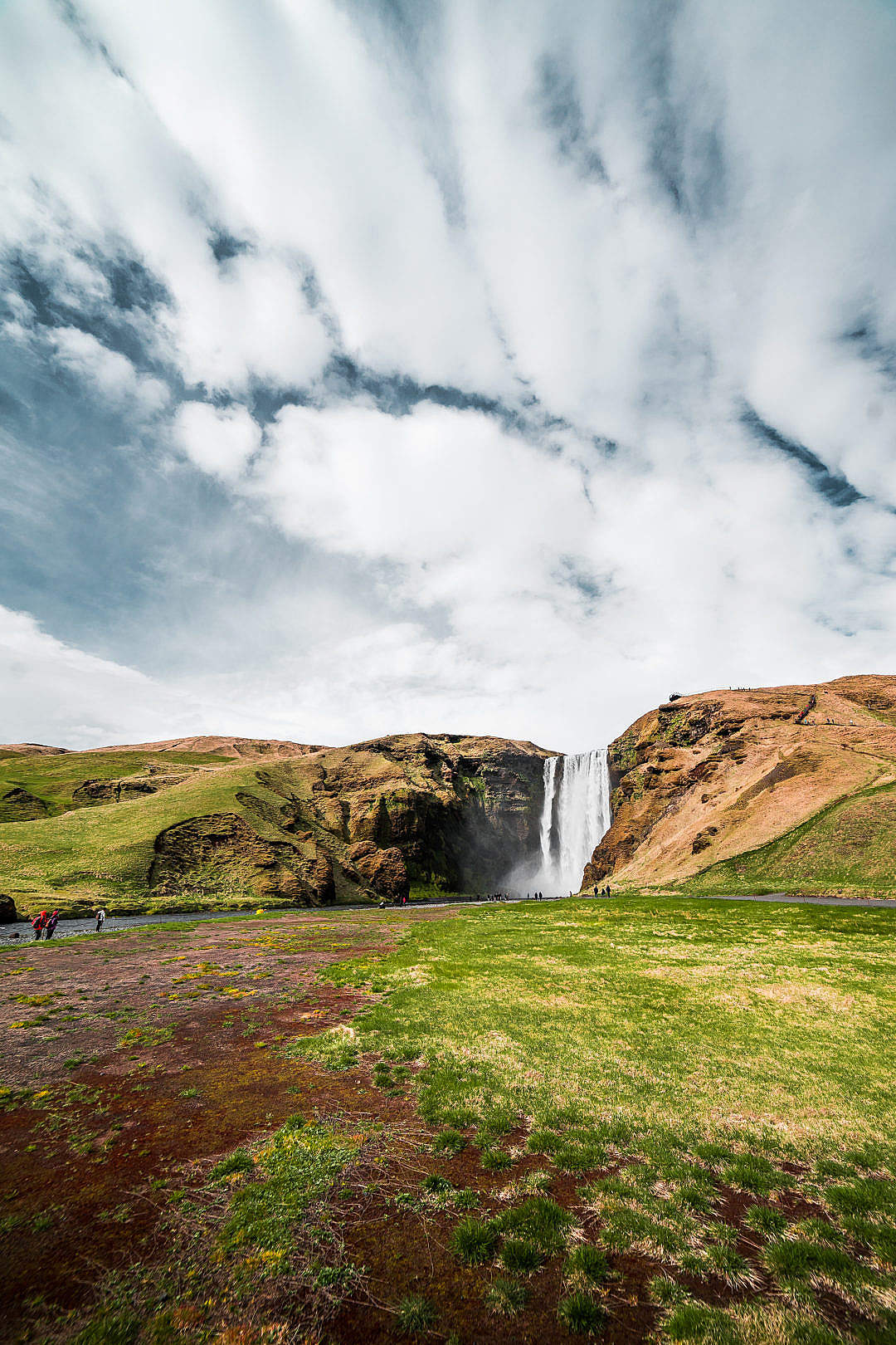 Download Icelandic Skógafoss Waterfall FREE Stock Photo