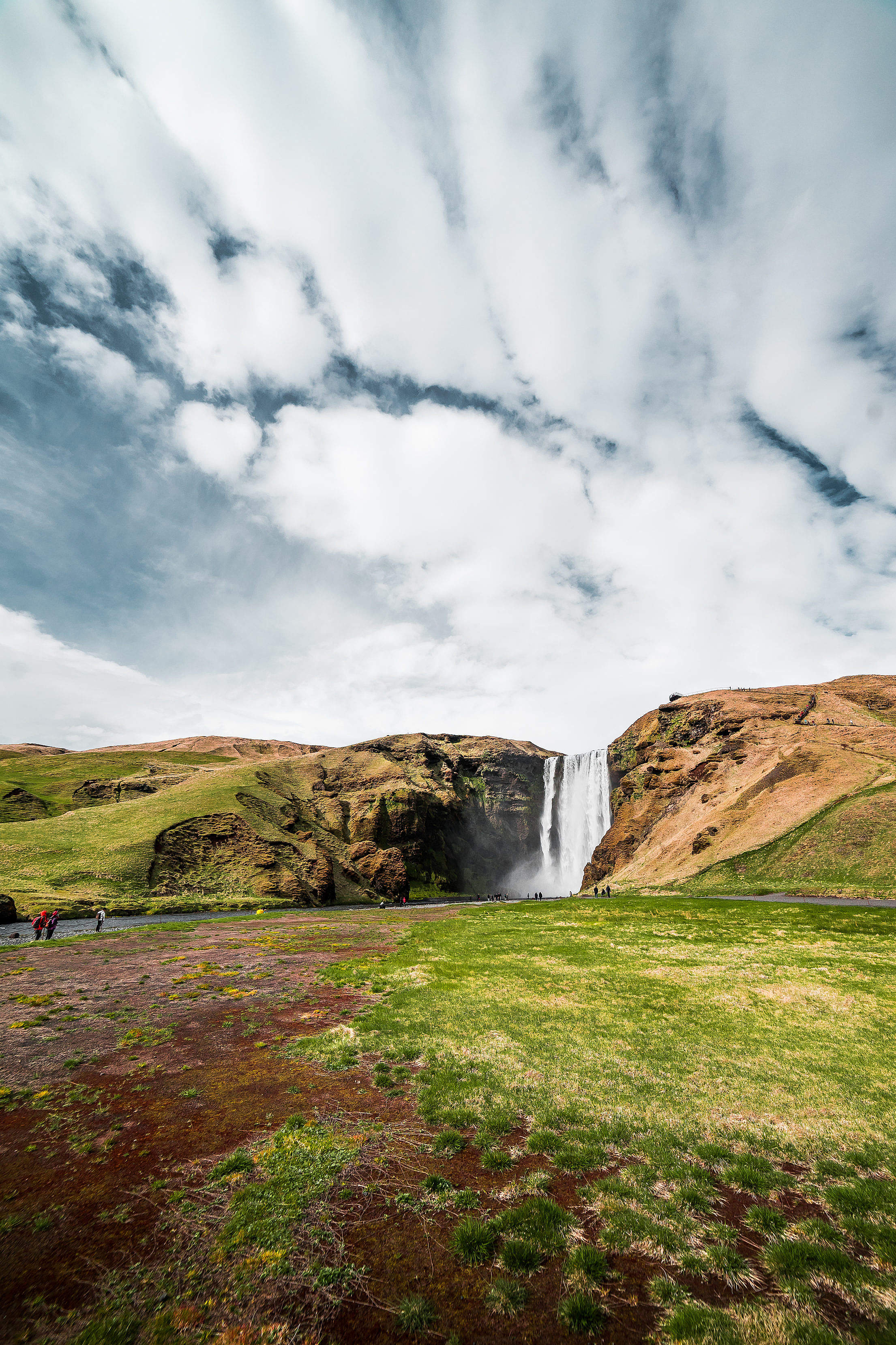 Icelandic Skógafoss Waterfall Free Stock Photo