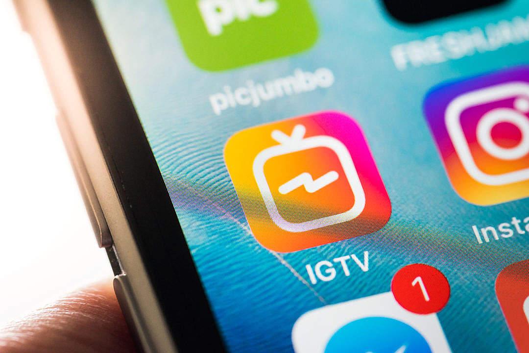 Download IGTV App iPhone Icon FREE Stock Photo