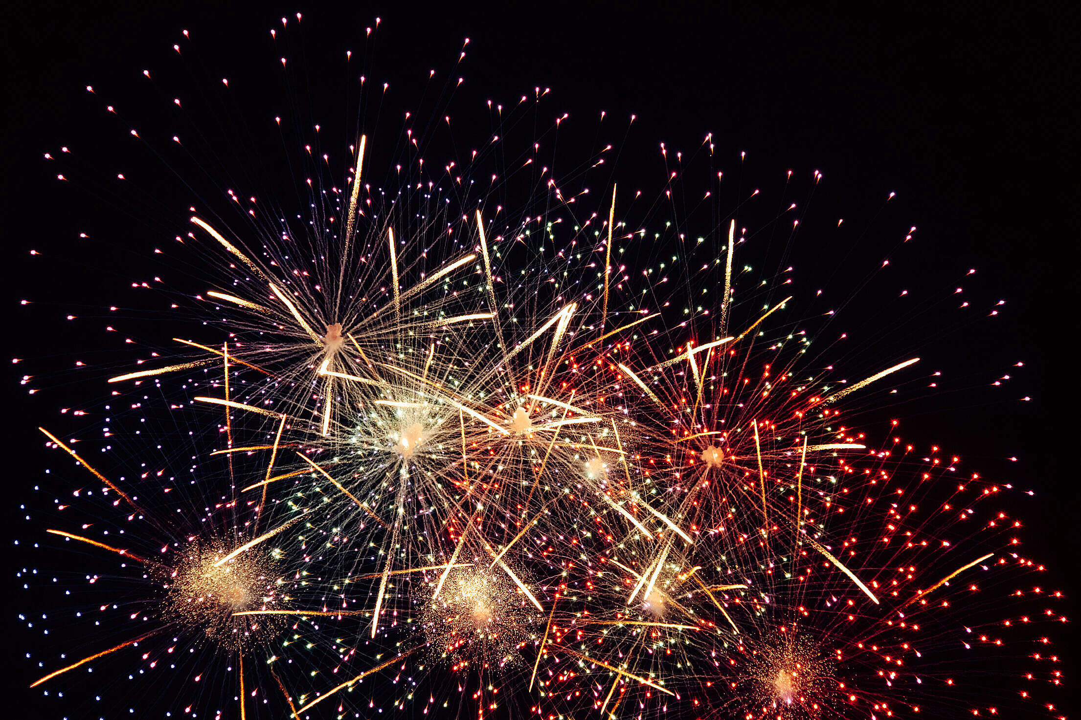 Independence Day Fireworks Free Stock Photo