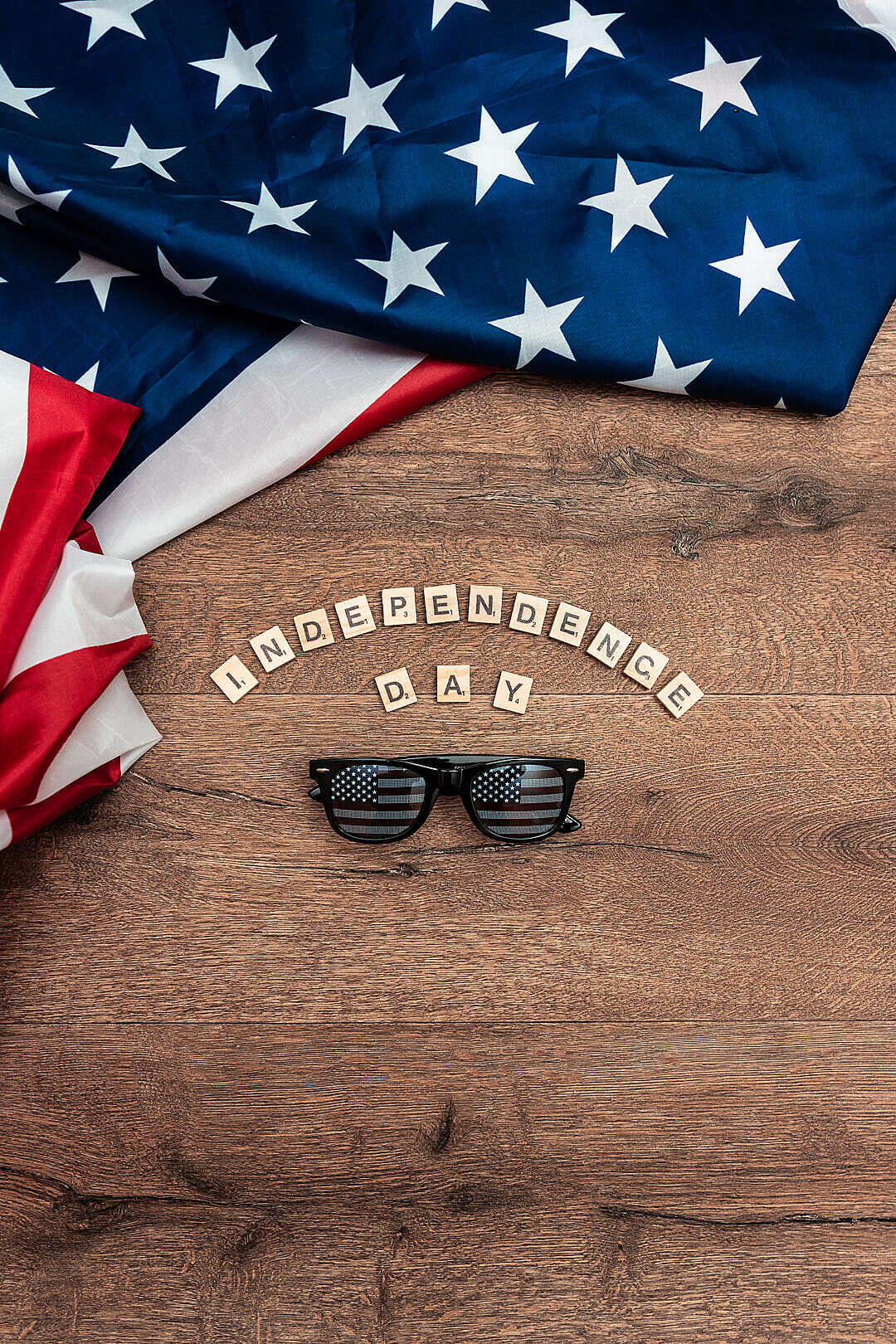 Download Independence Day July 4th USA Sunglasses FREE Stock Photo