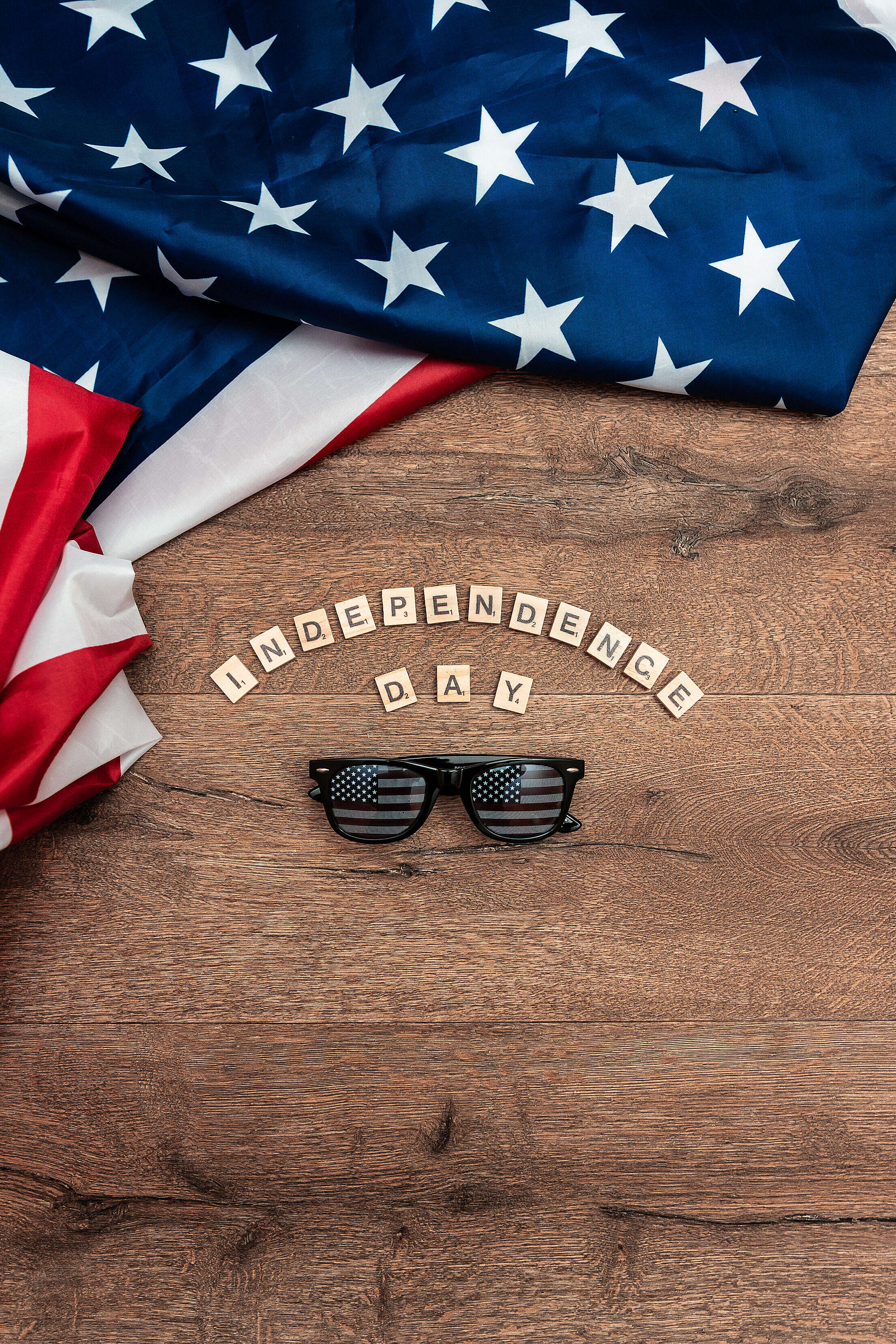 Independence Day July 4th USA Sunglasses Free Stock Photo