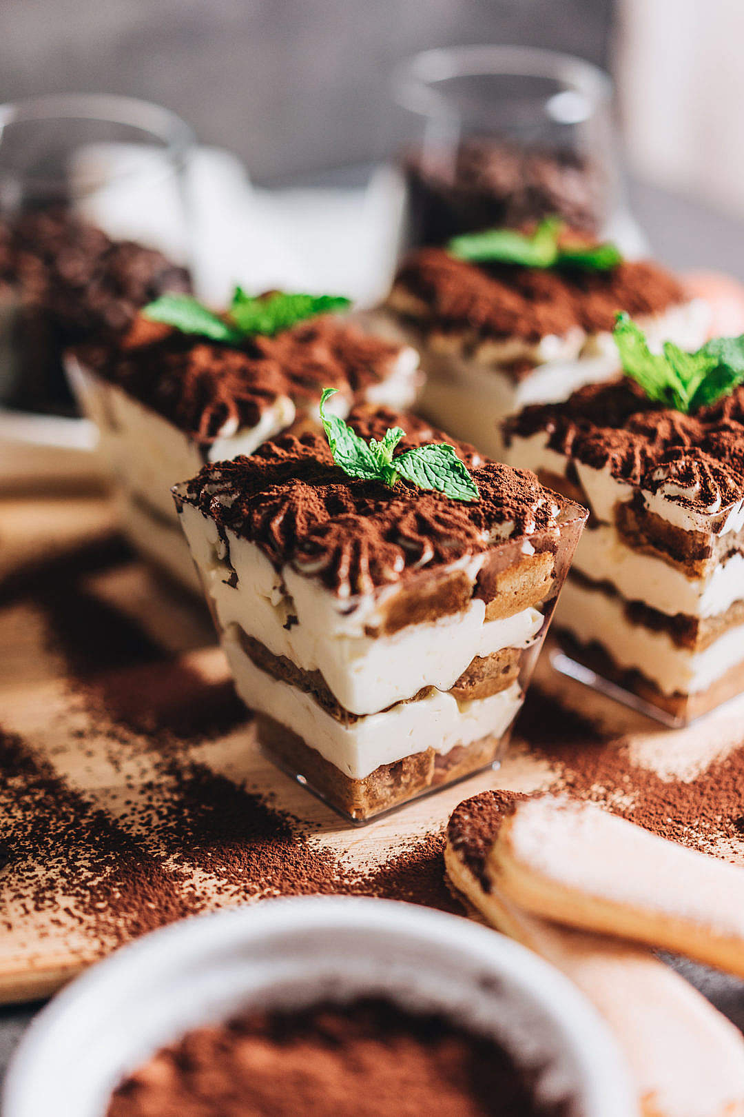 Download Individual Tiramisu Vertical FREE Stock Photo