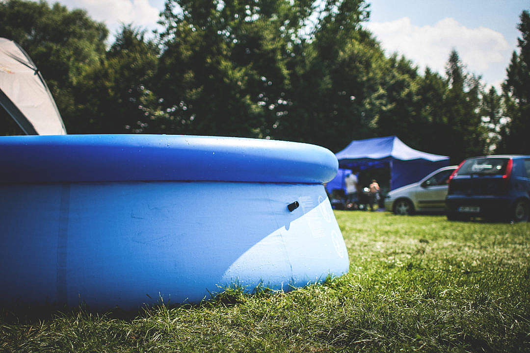 Download Inflatable Swimming Pool FREE Stock Photo