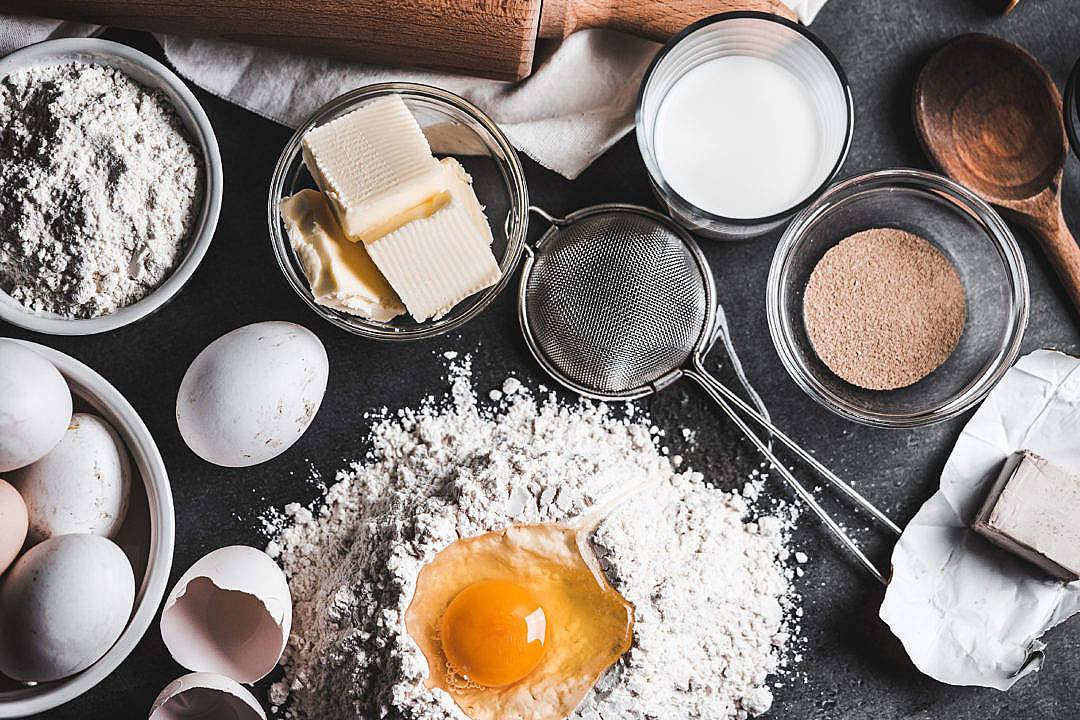 Download Ingredients for Homemade Baking FREE Stock Photo