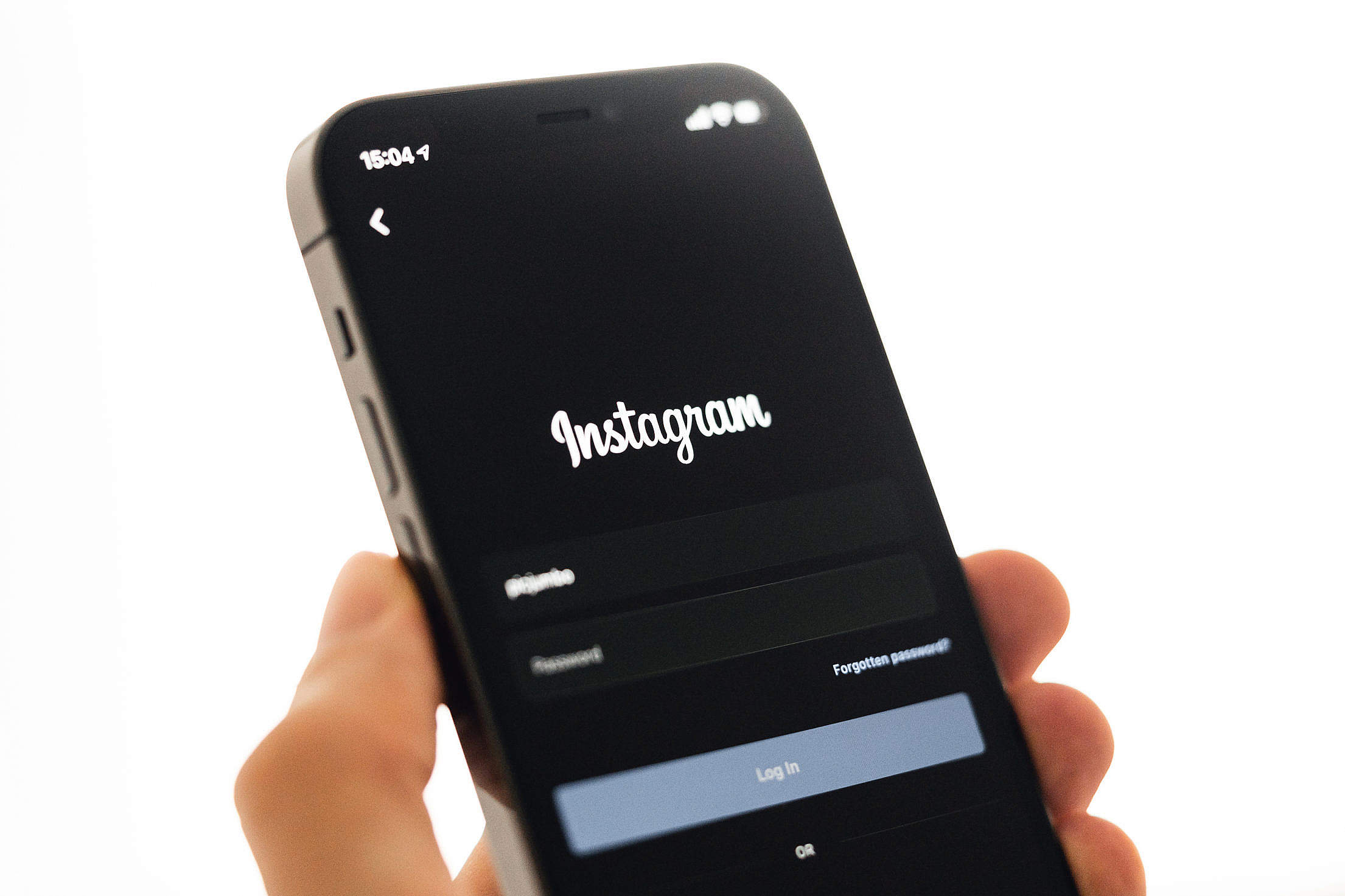 Instagram Login Free Stock Photo