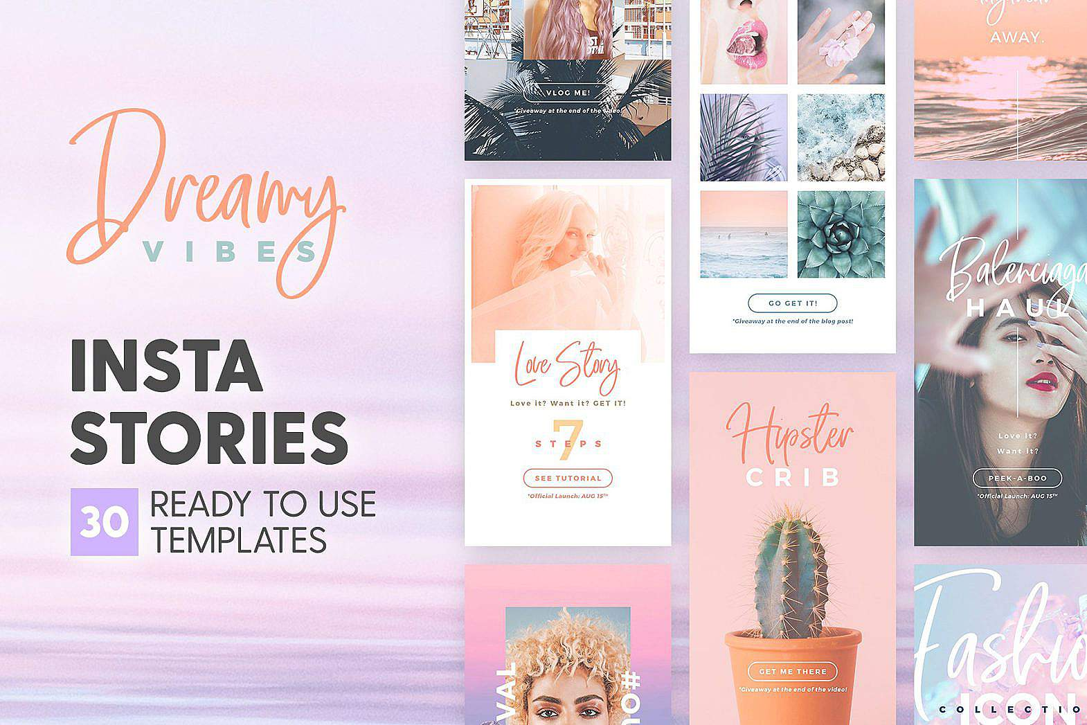 Instagram Stories Templates: Dreamy Vibes Free Stock Photo Download