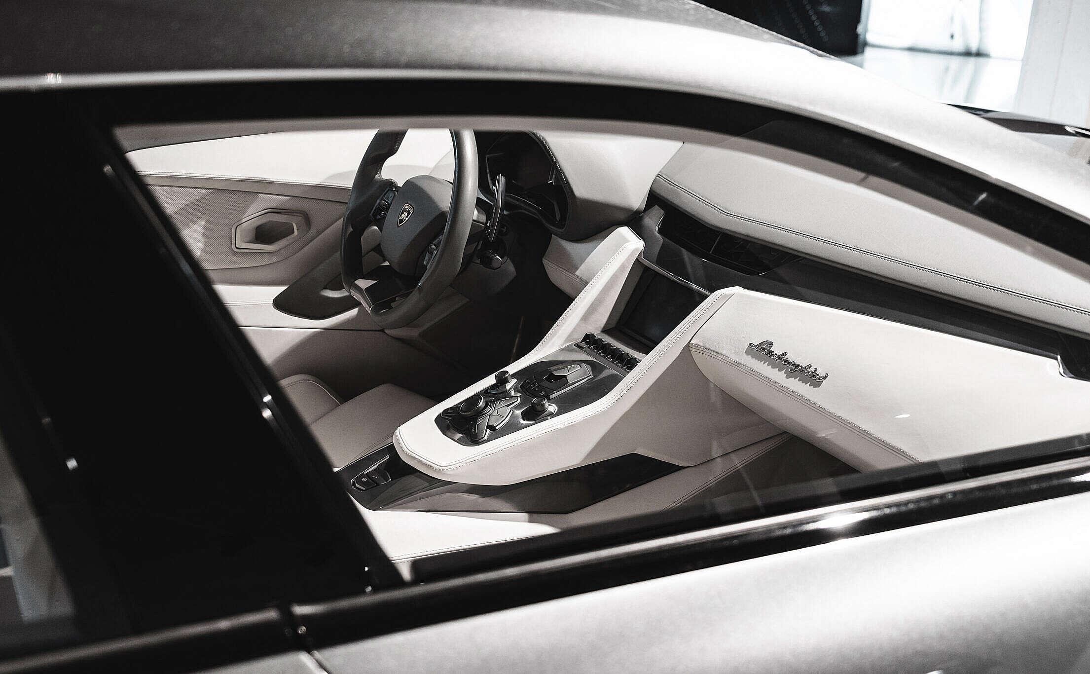 Interior of Lamborghini Estoque Luxury Car Concept Free Stock Photo