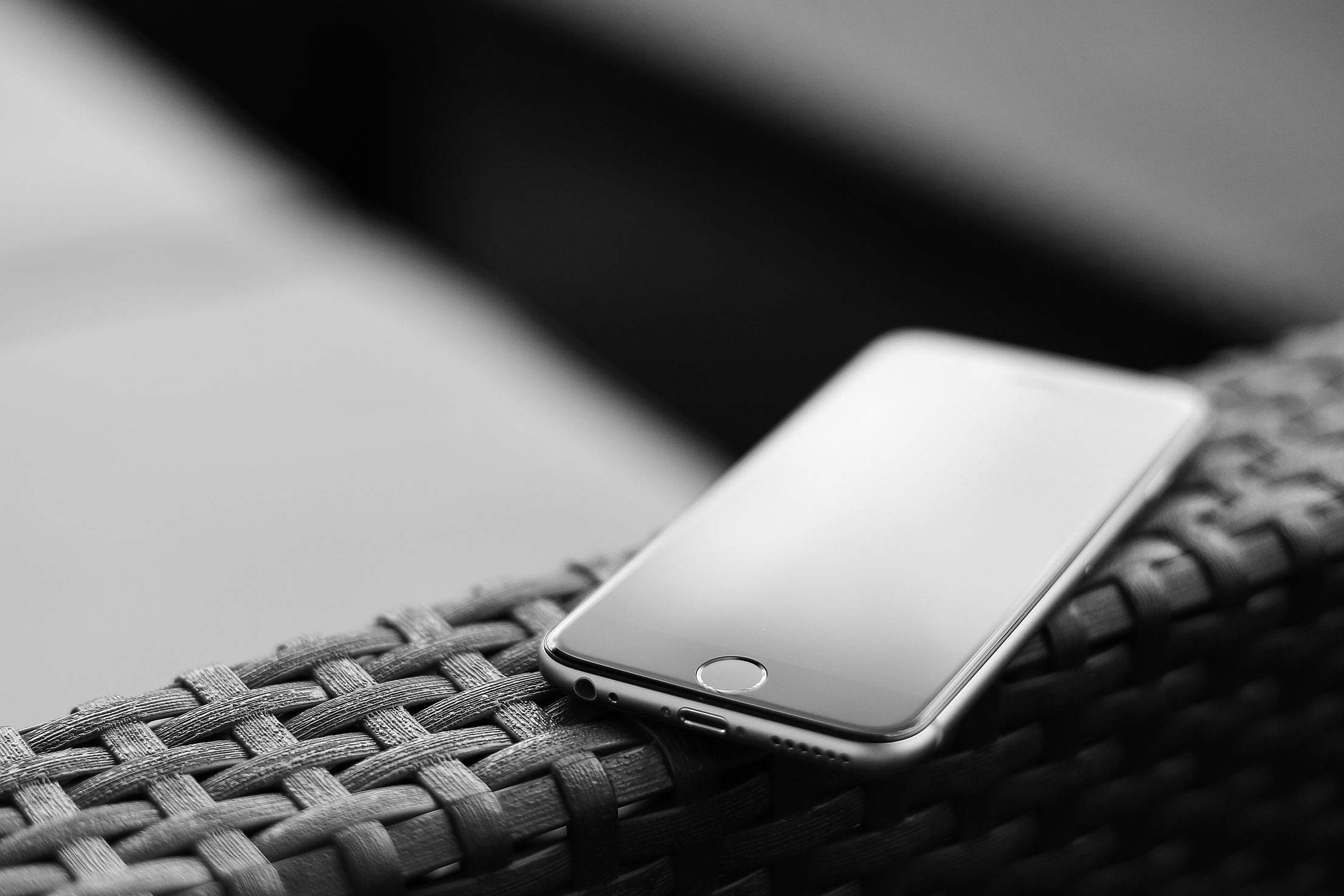 Download iPhone 6 in Black and White Edit Free Stock Photo