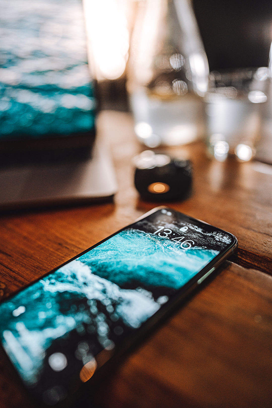 Download iPhone XS Lying on The Table FREE Stock Photo