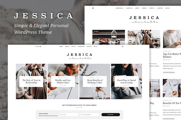 Jessica – Simple & Elegant WordPress Theme