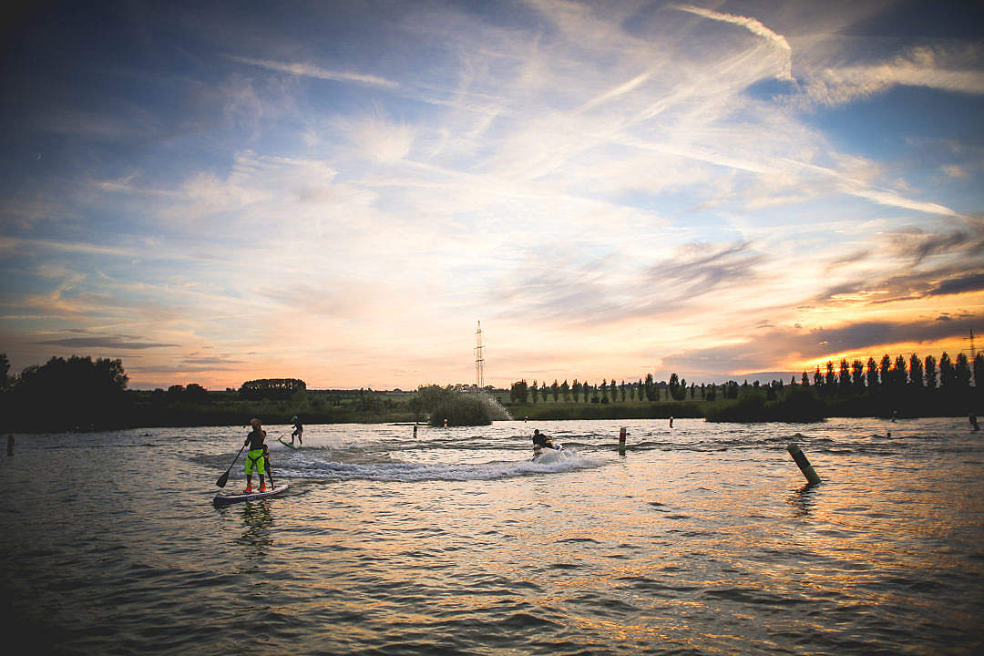 Download JetSurf Watersports Sunset FREE Stock Photo