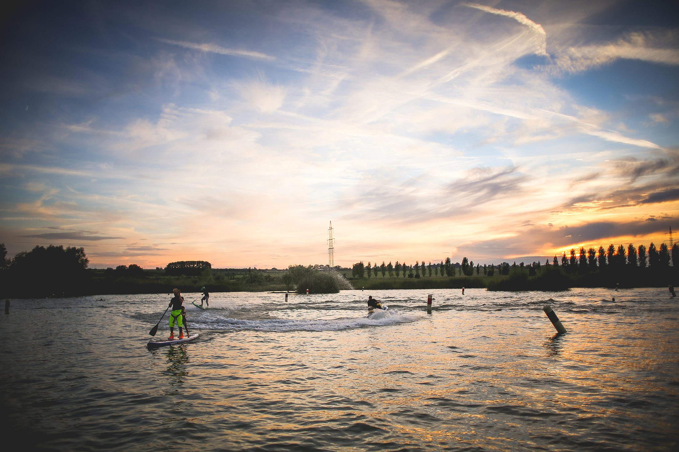 JetSurf Watersports Sunset Free Stock Photo