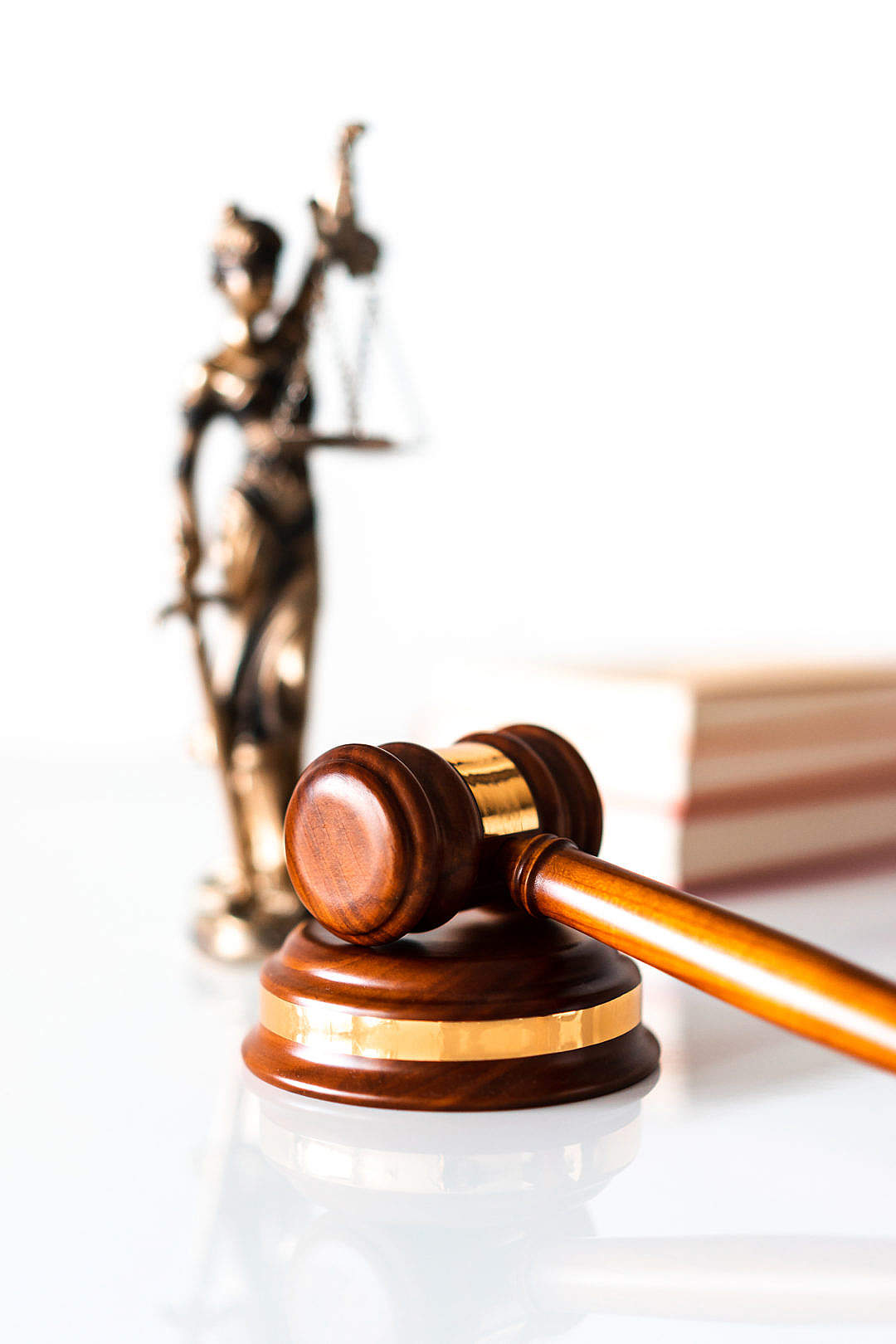 Download Judge Hammer and Blind Lady Justice Statue FREE Stock Photo
