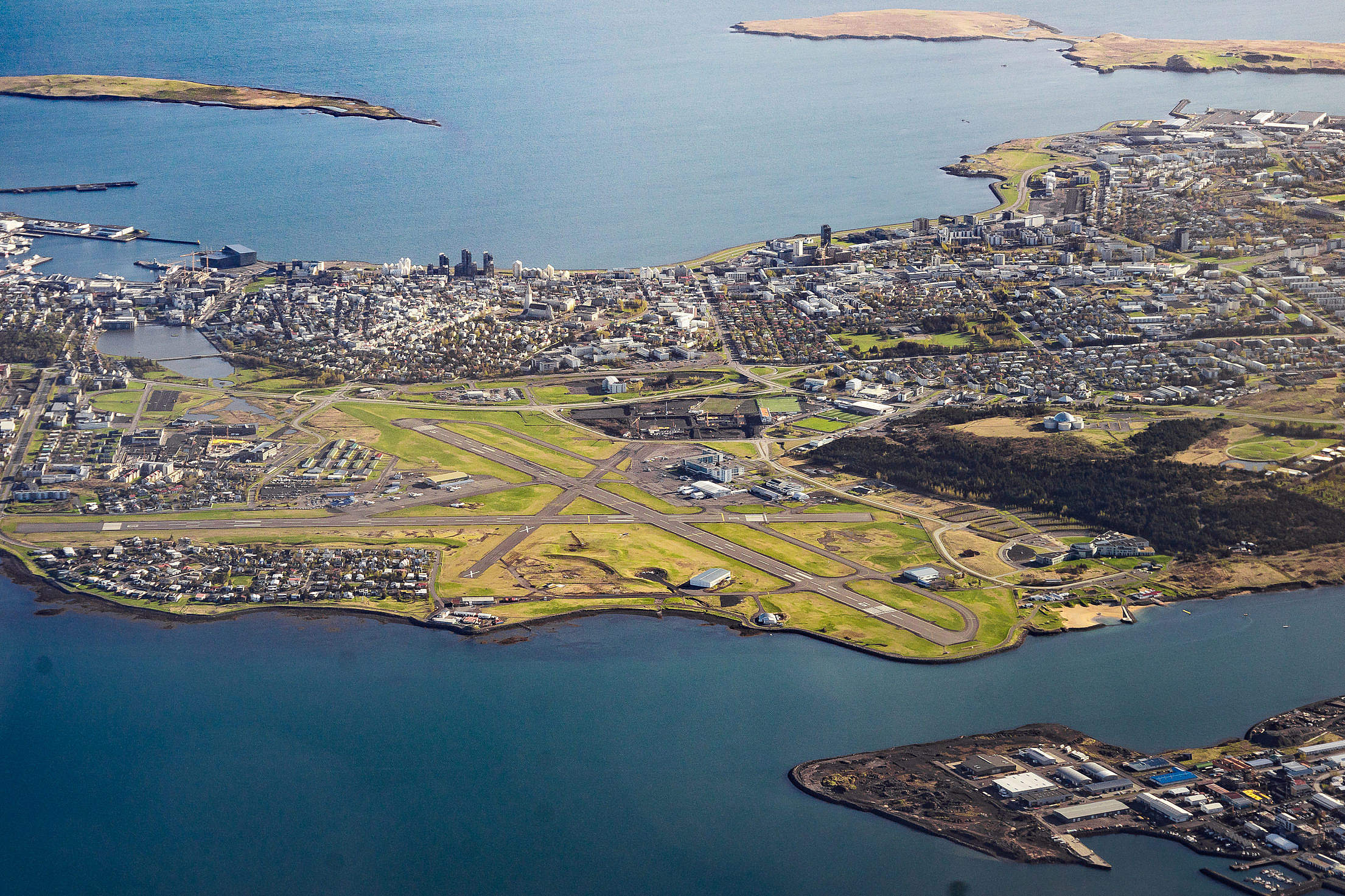 Keflavik Airport From Above Free Stock Photo