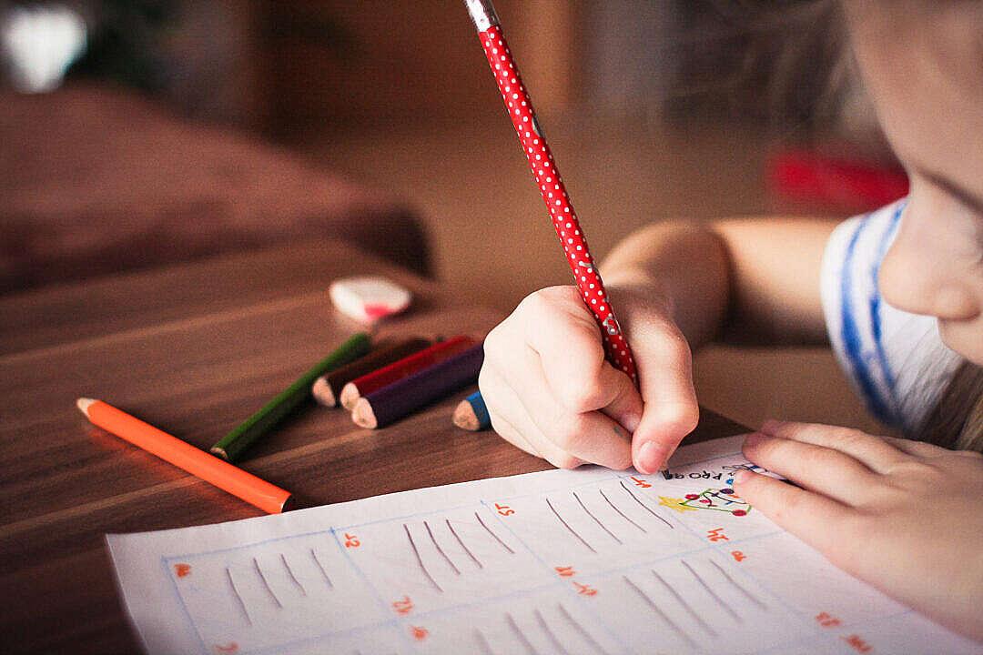 Download Kindergarten Preschool Child Care Drawing Activity FREE Stock Photo