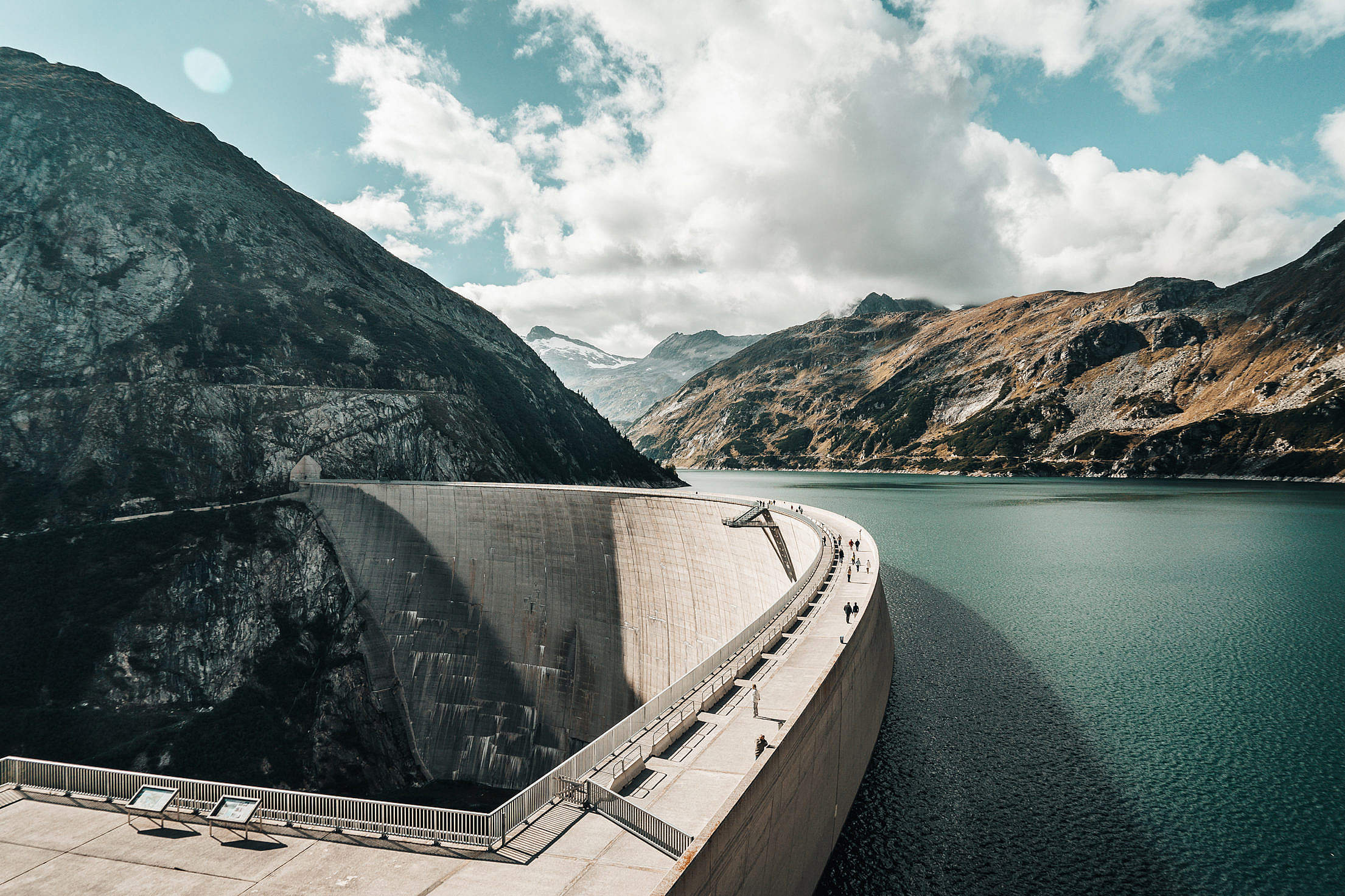 Kölnbrein Dam in Austria Free Stock Photo