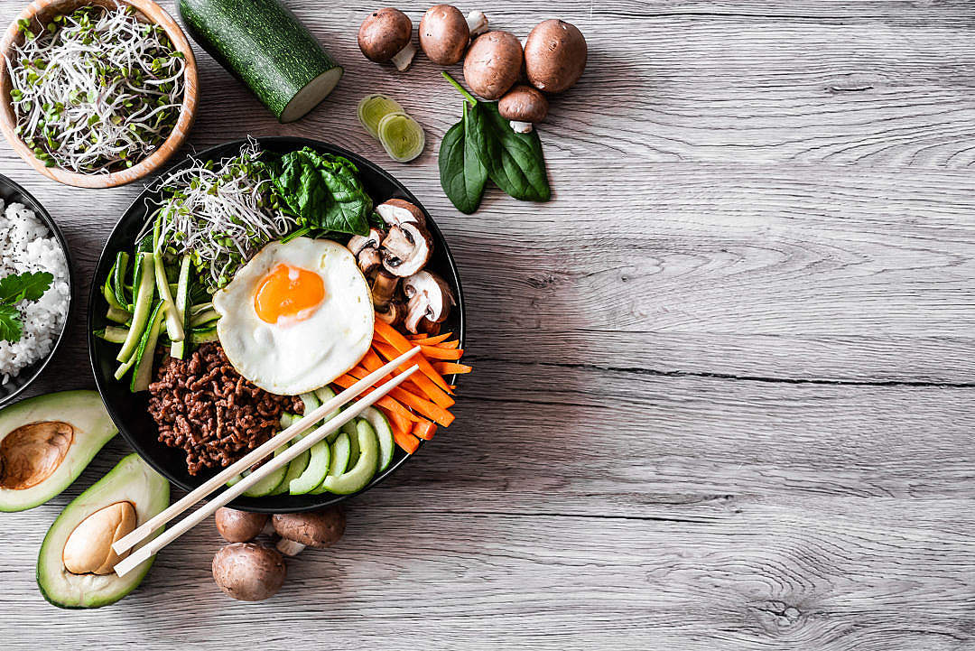 Download Korean Dish with Copy Space FREE Stock Photo