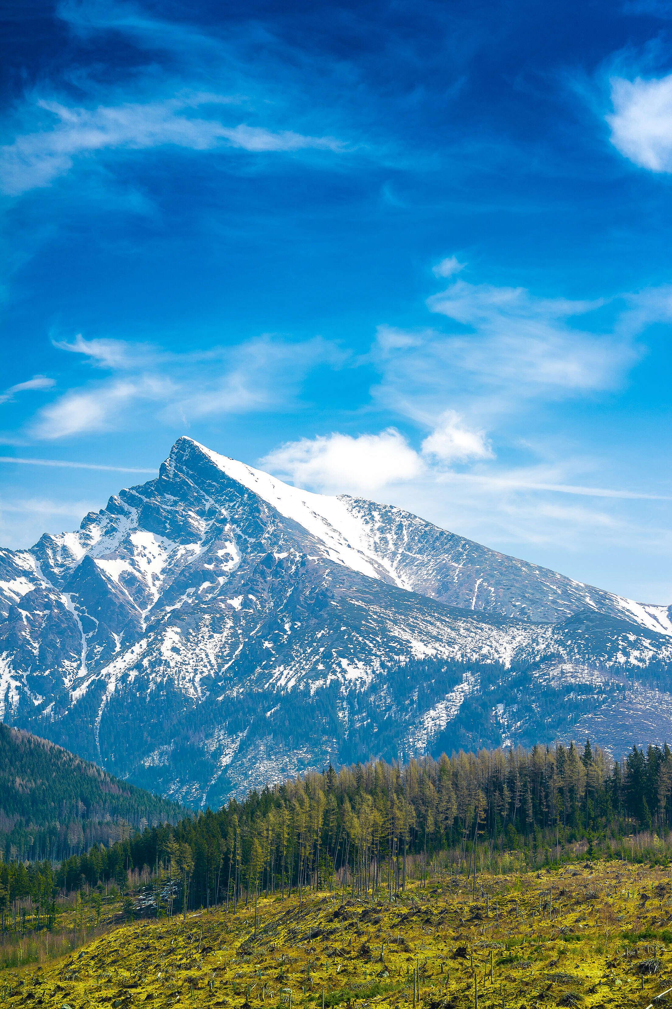 Krivan Mountain Peak in Slovakia Free Stock Photo