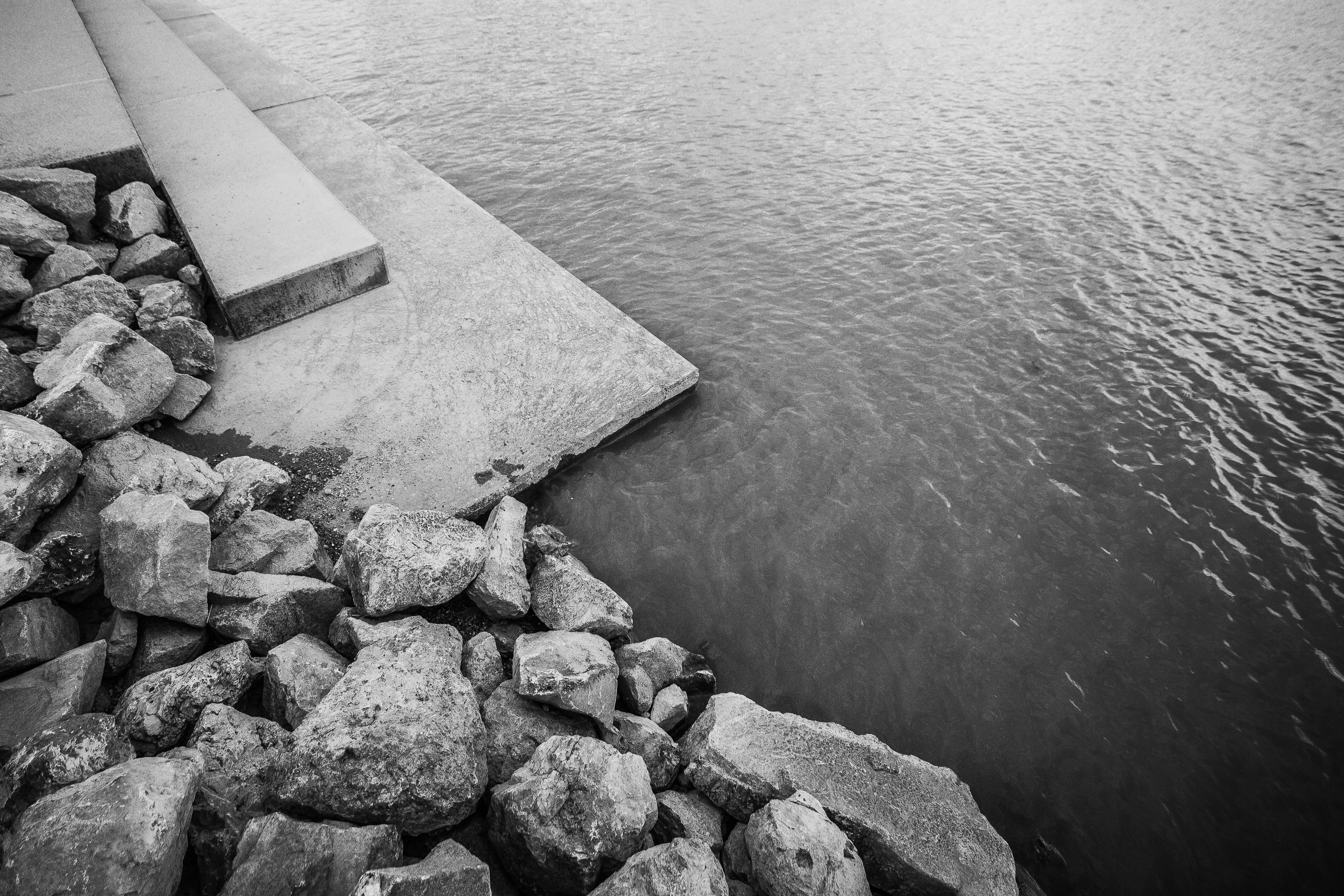 Download Lake Shore with Rocks FREE Stock Photo