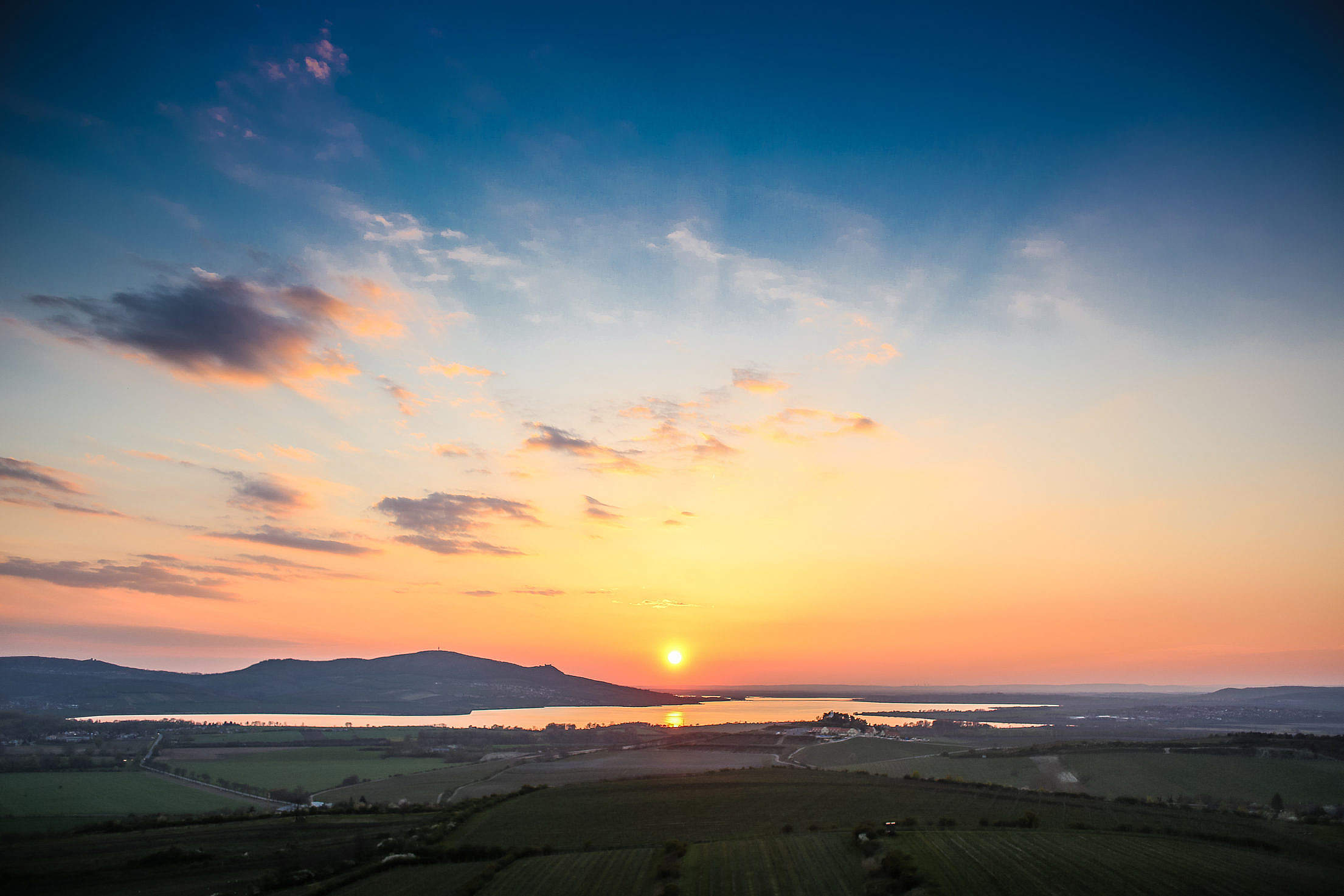 Lake Sunset #2 Free Stock Photo