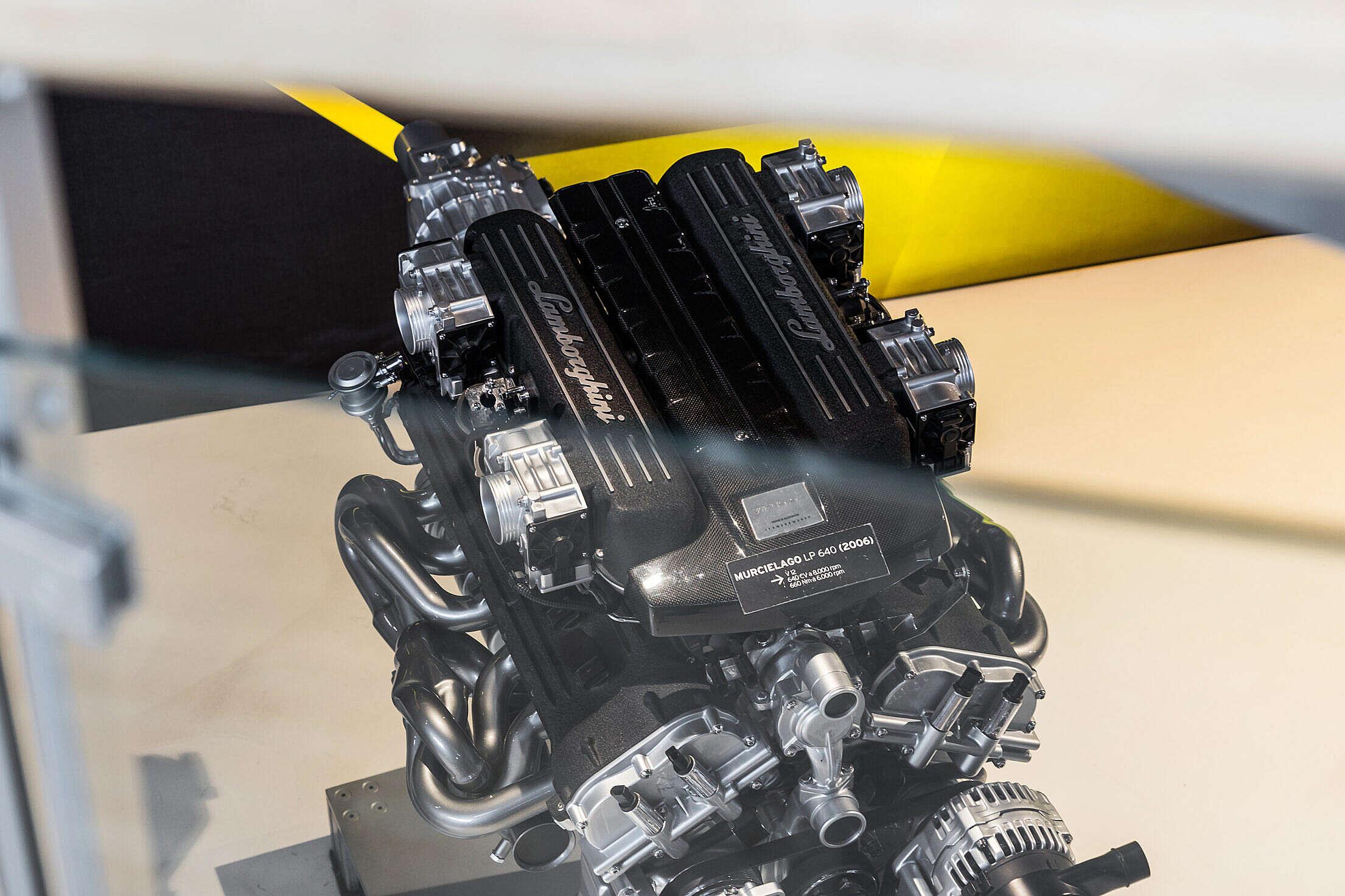 Lamborghini Murcielago Engine in Lamborghini Museum Free Stock Photo