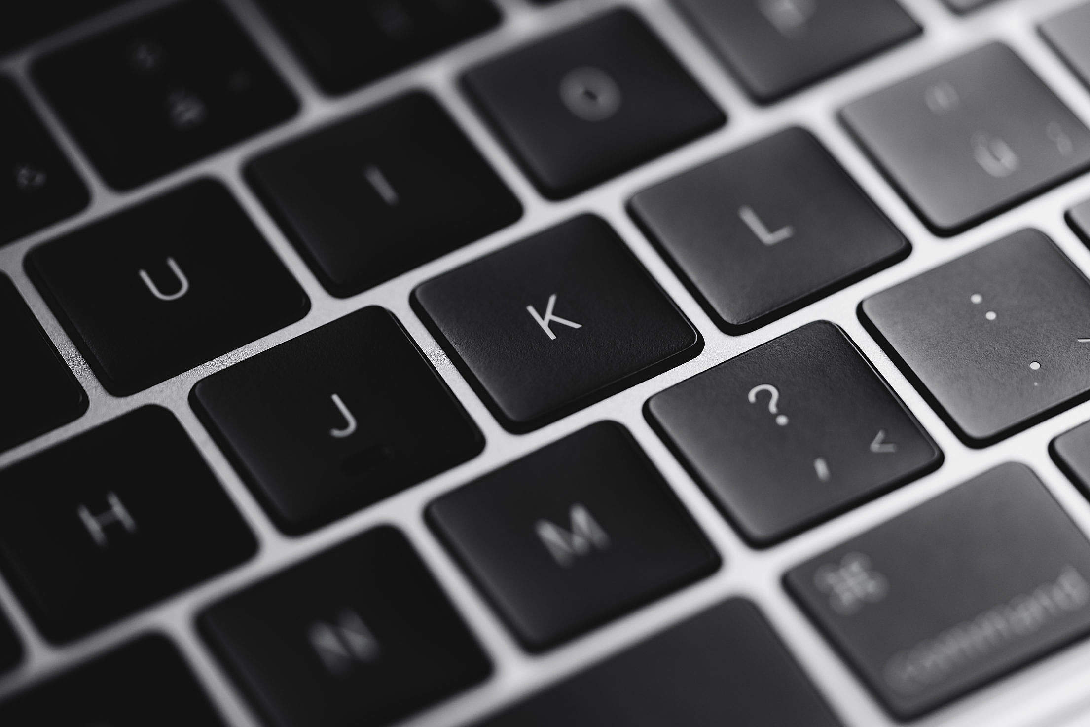 Laptop Keyboard Keys Close Up Free Stock Photo